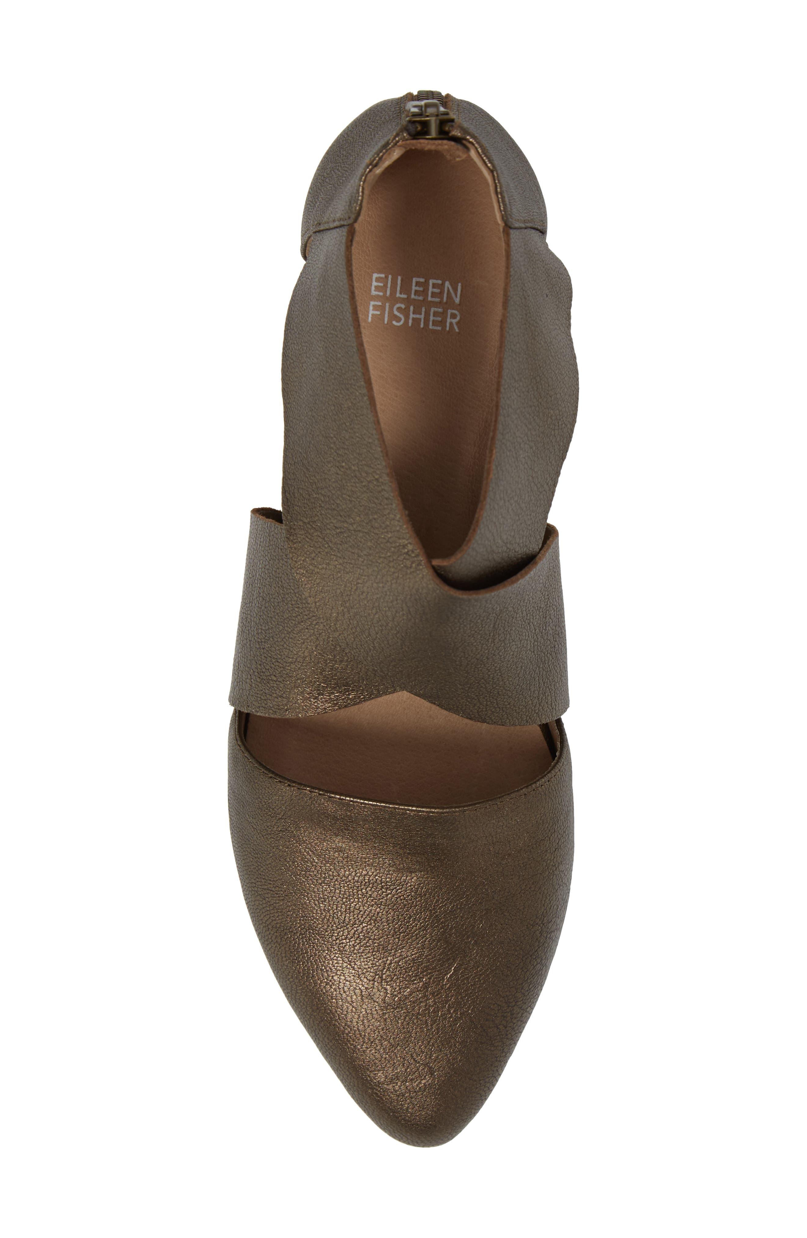 Vera Strappy Pump,                             Alternate thumbnail 5, color,                             Bronze Metallic Leather