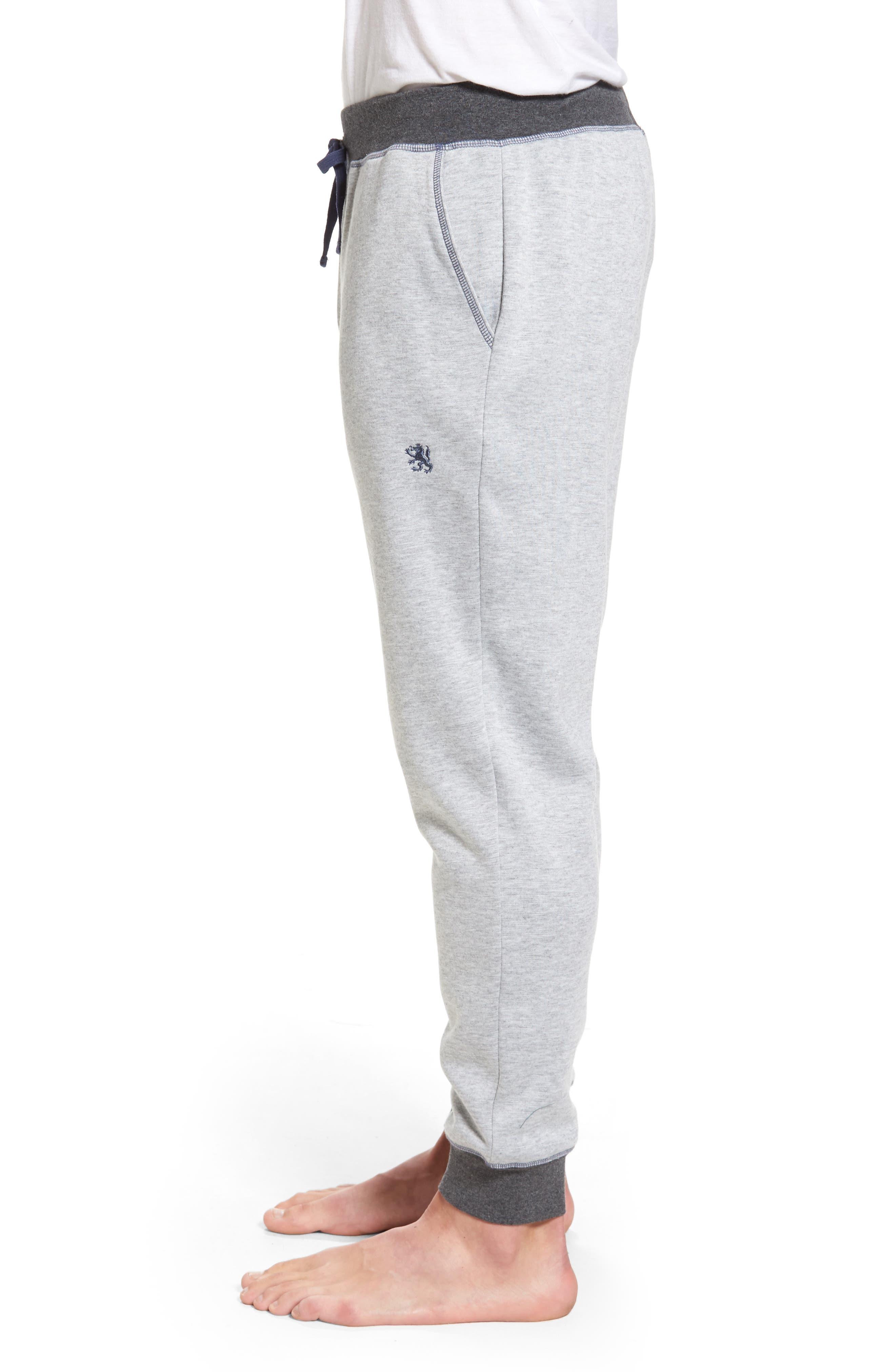Double Take Knit Lounge Pants,                             Alternate thumbnail 3, color,                             Grey