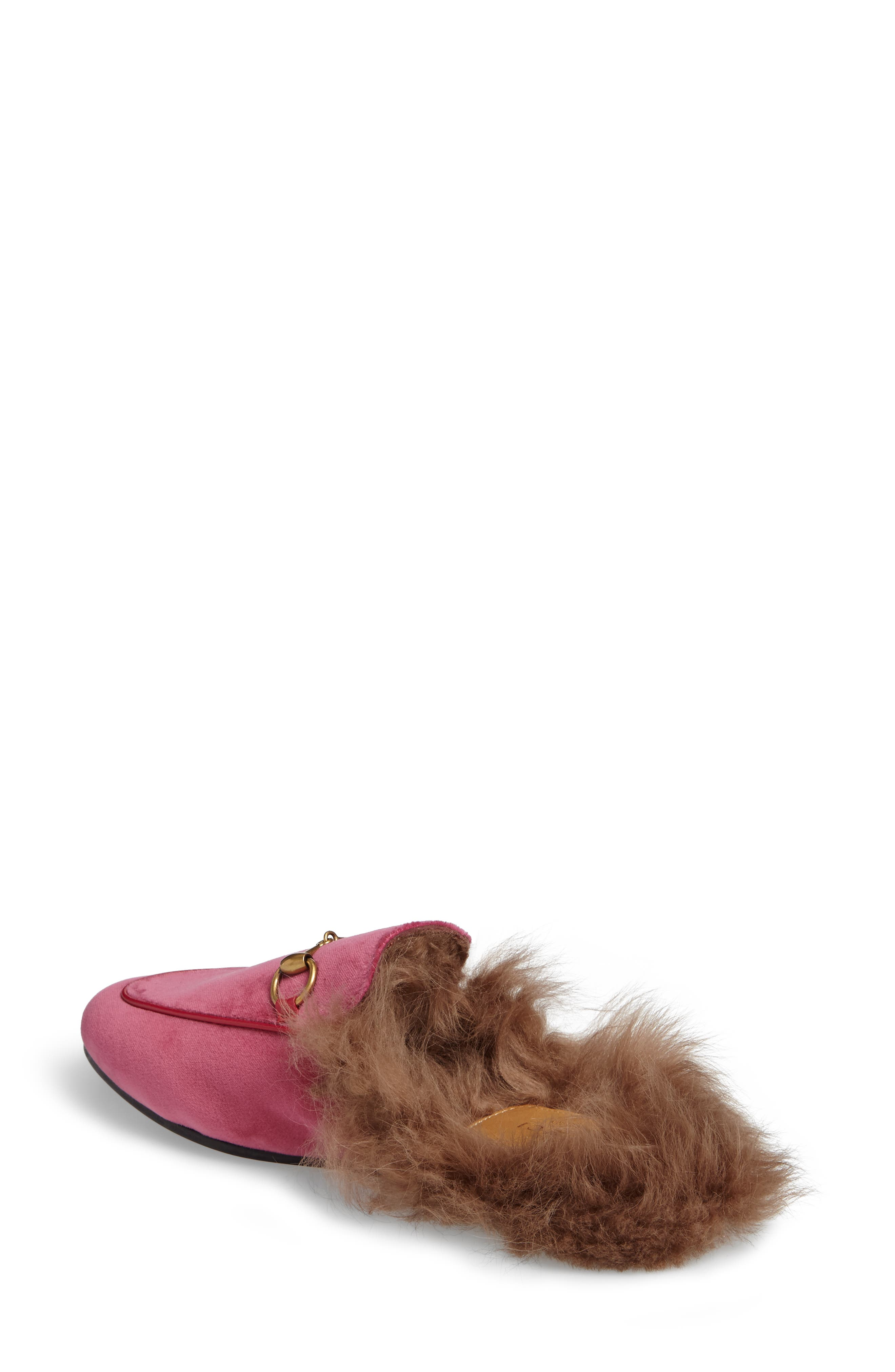 Alternate Image 2  - Gucci 'Princetown' Genuine Shearling Mule Loafer (Women)