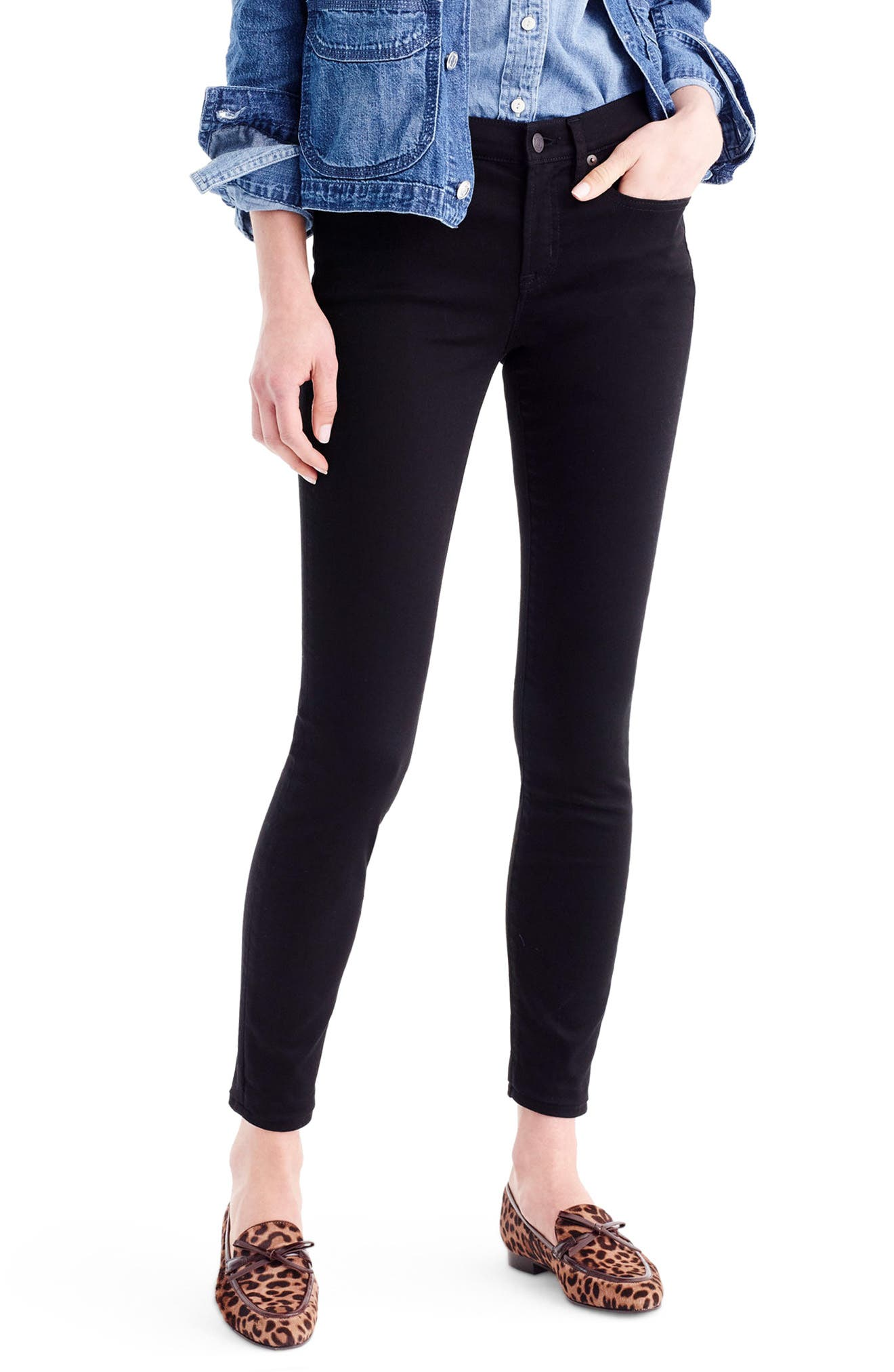 Toothpick Jeans,                             Main thumbnail 1, color,                             True Black