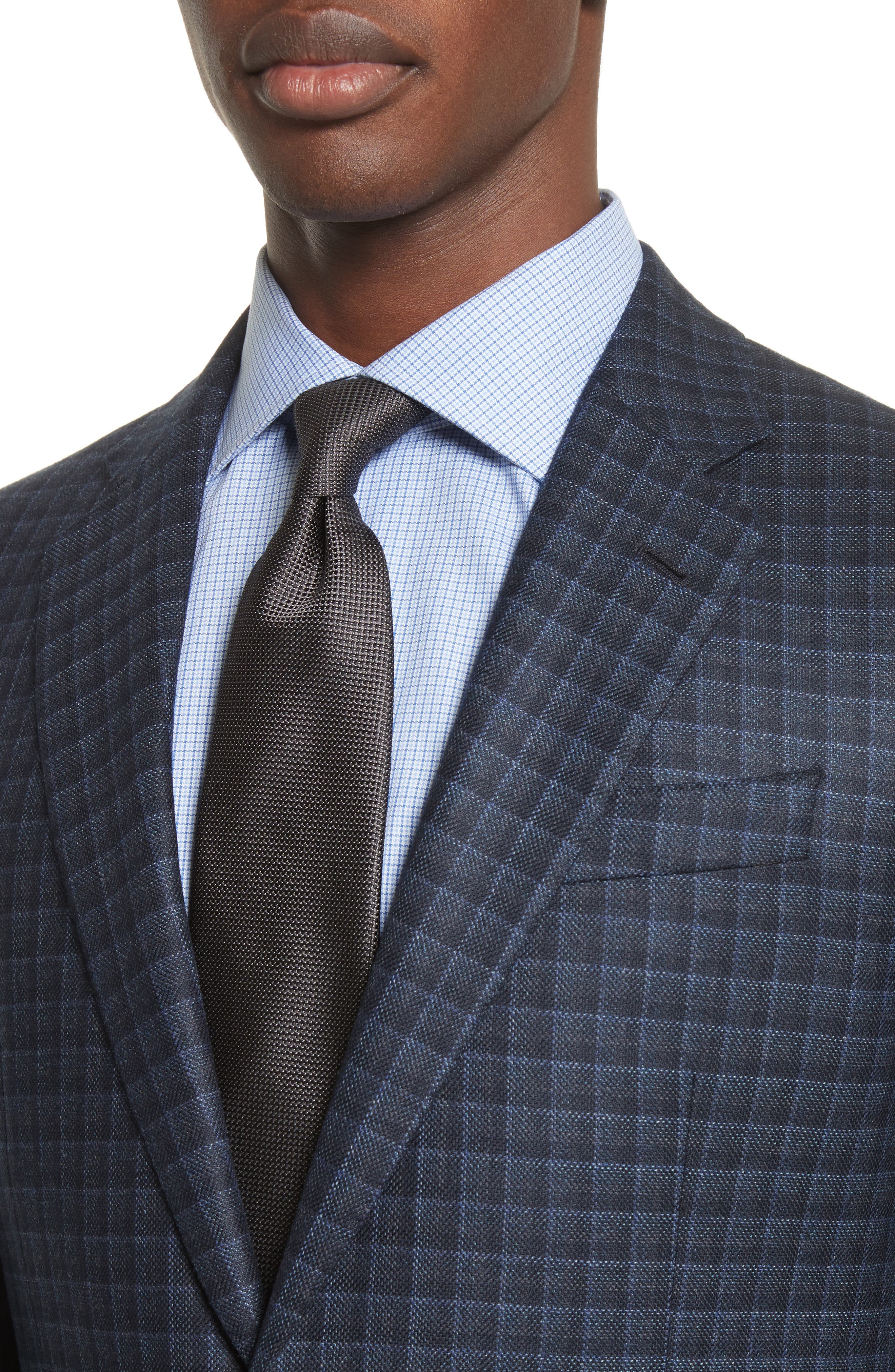 Alternate Image 4  - Armani Collezioni G-Line Trim Fit Check Silk & Wool Sport Coat