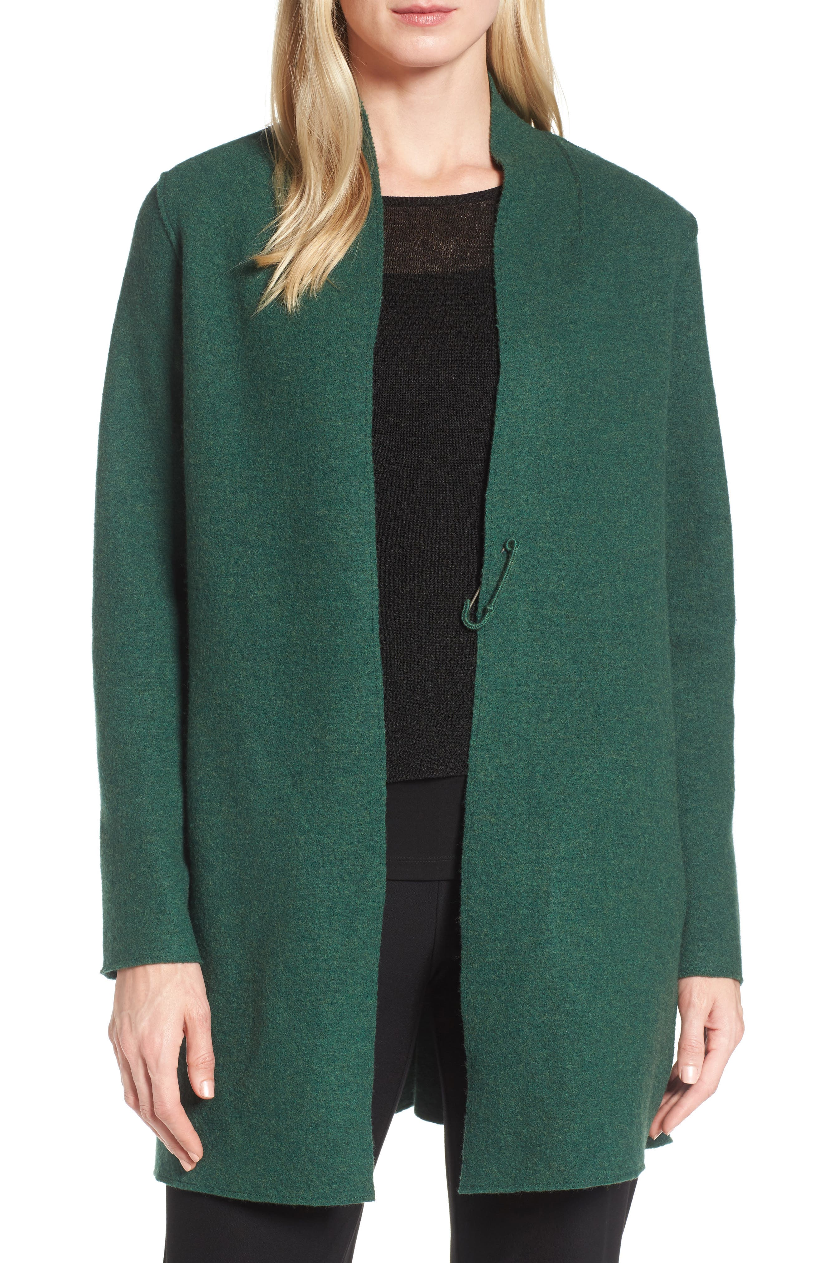 EILEEN FISHER Boiled Wool Jacket