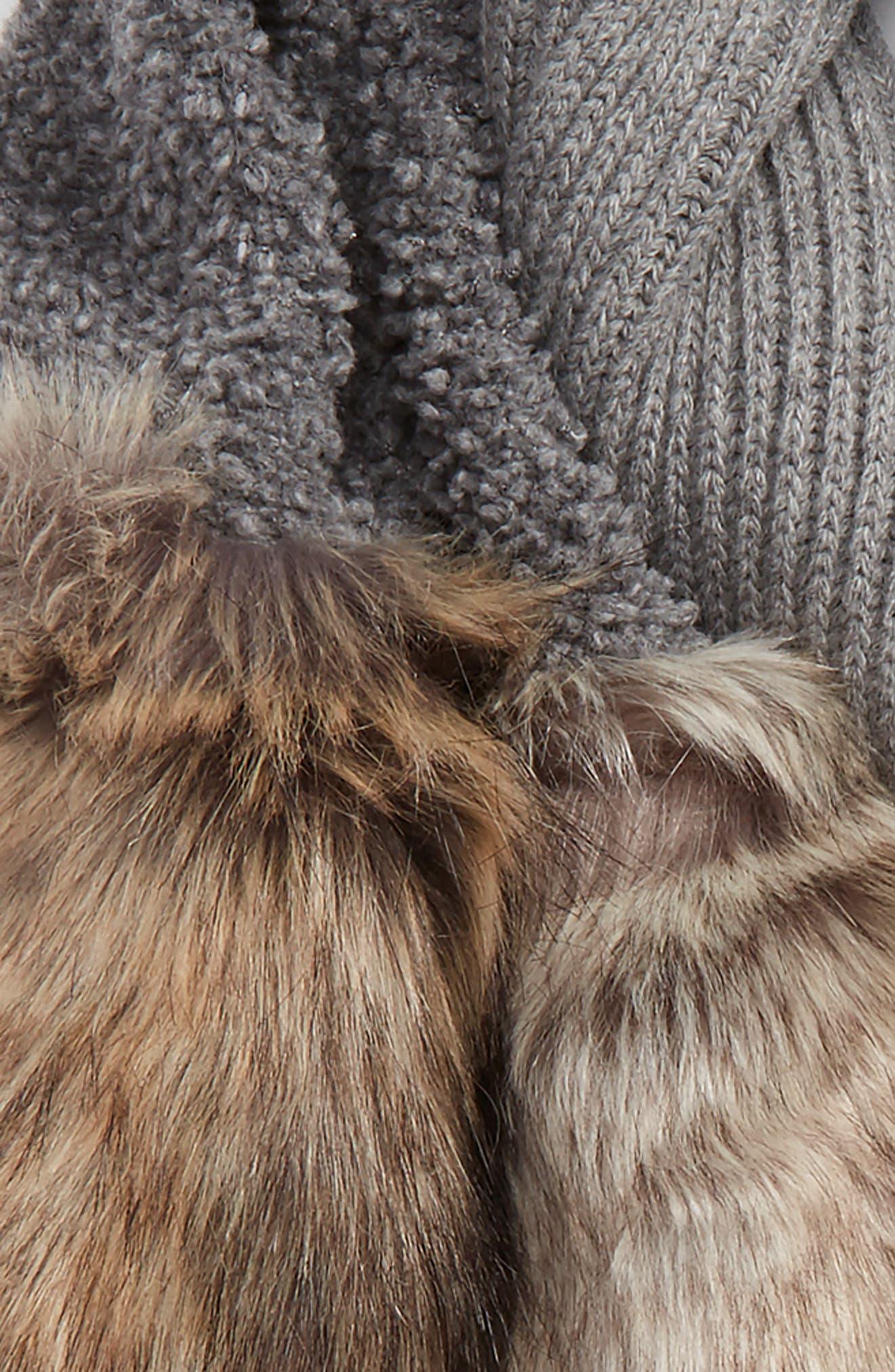 Alternate Image 3  - Stella McCartney Wool Scarf with Faux Fur Panels