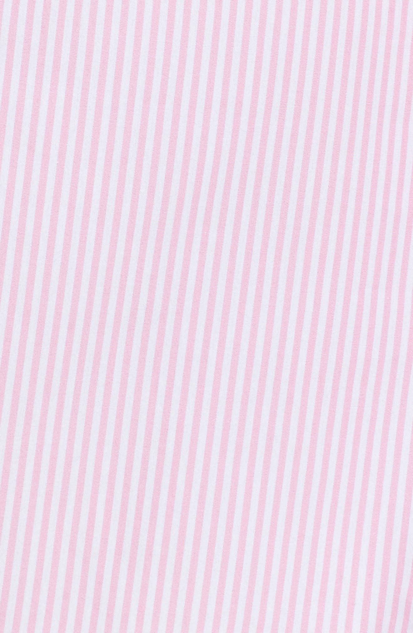 Cotton Poplin Sleep Shirt,                             Alternate thumbnail 4, color,                             Stripe Lagoon Pink/ White