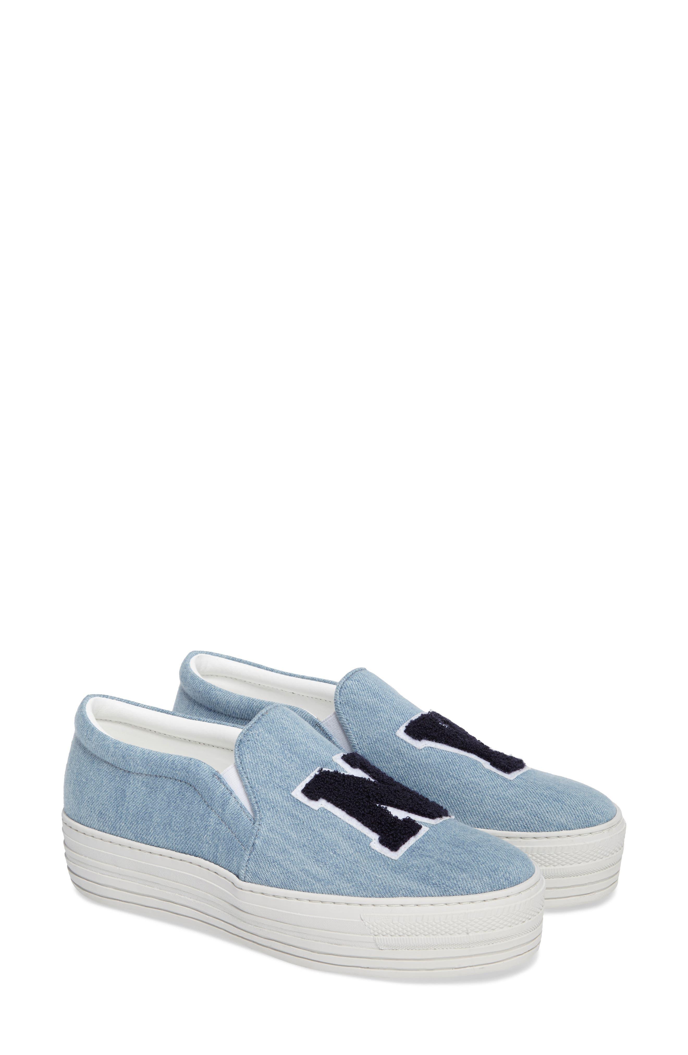 Slip-On Sneaker,                             Alternate thumbnail 2, color,                             Light Denim