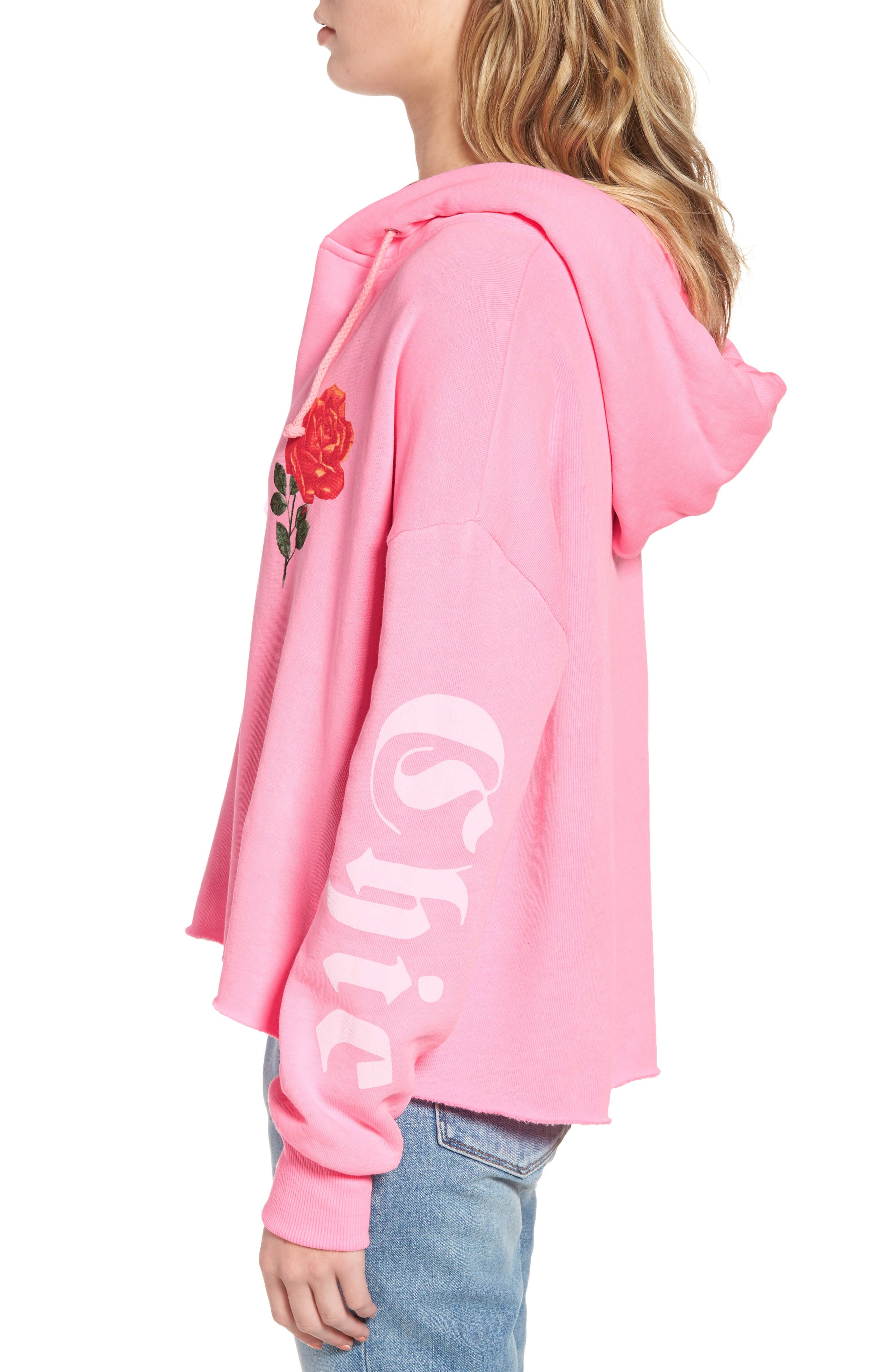 Mega Chic Freddy Hoodie,                             Alternate thumbnail 4, color,                             Neon Sign Pink