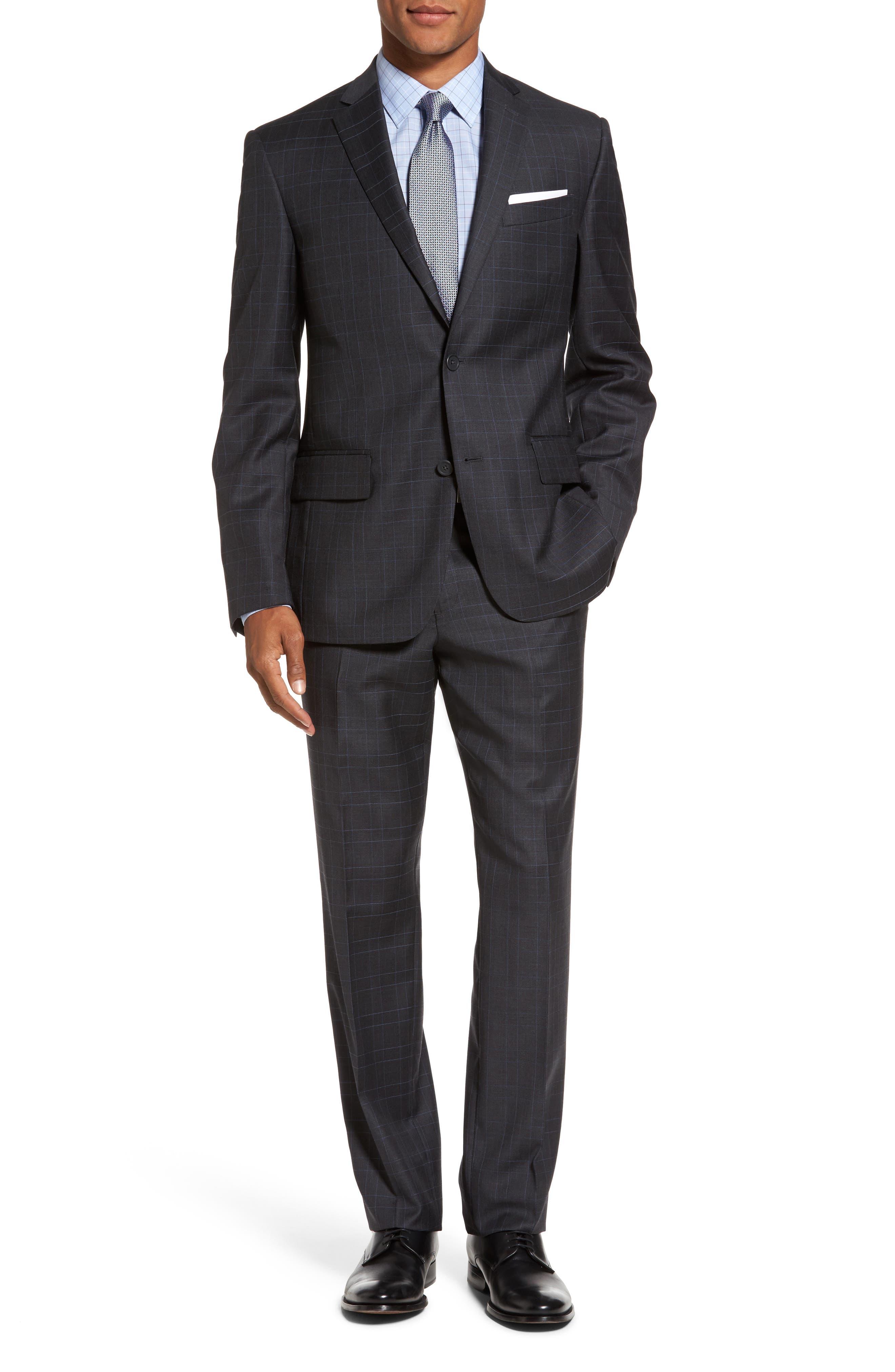 Main Image - Nordstrom Men's Shop Classic Fit Plaid Wool Suit