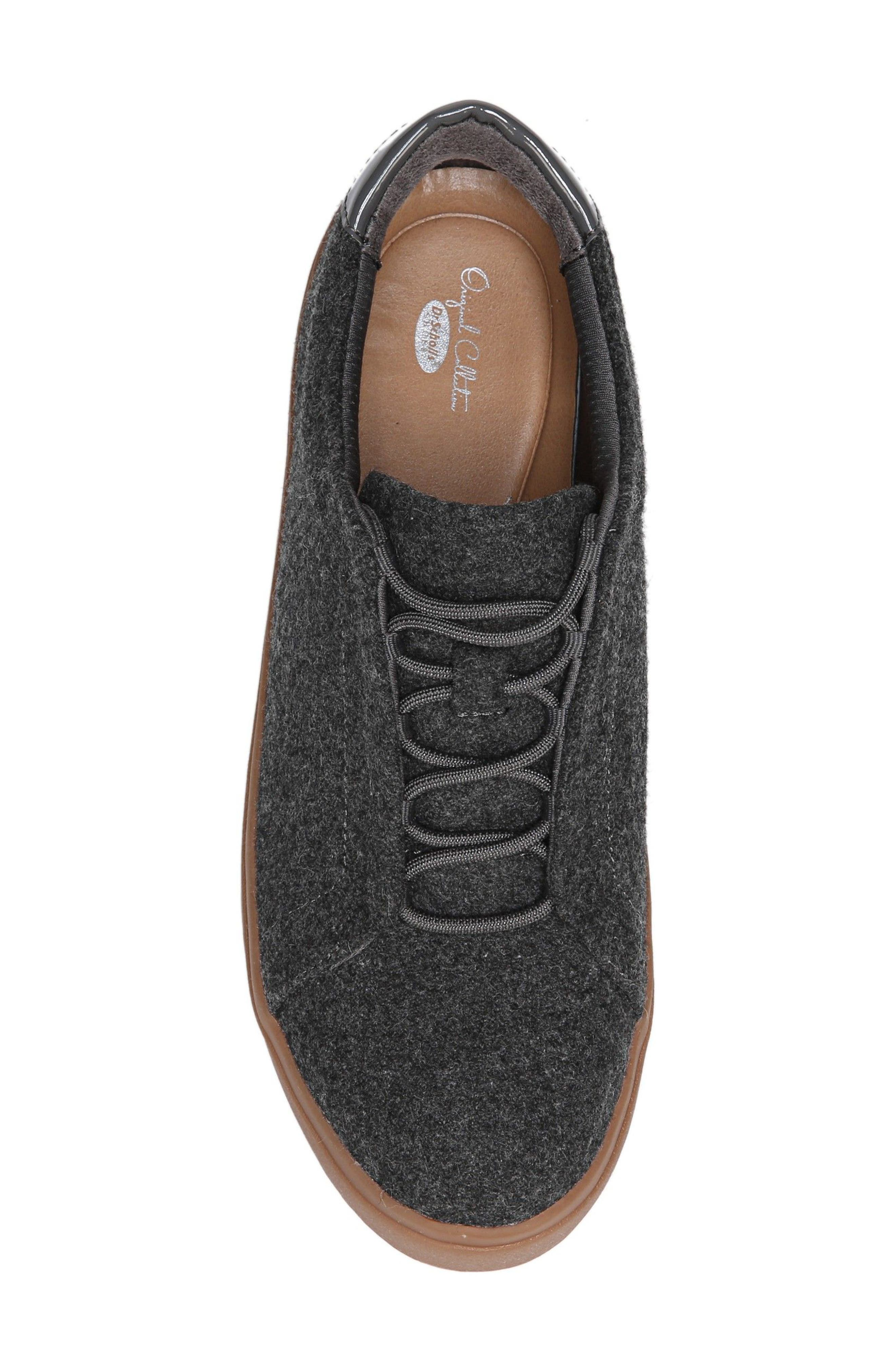 Abbot Sneaker,                             Alternate thumbnail 5, color,                             Charcoal Fabric