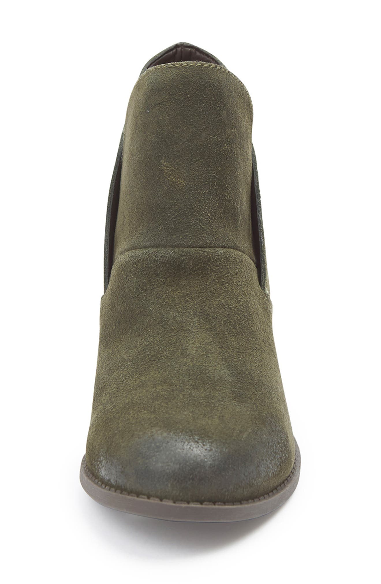 Me Too Zena Ankle Boot,                             Alternate thumbnail 3, color,                             Moss Suede