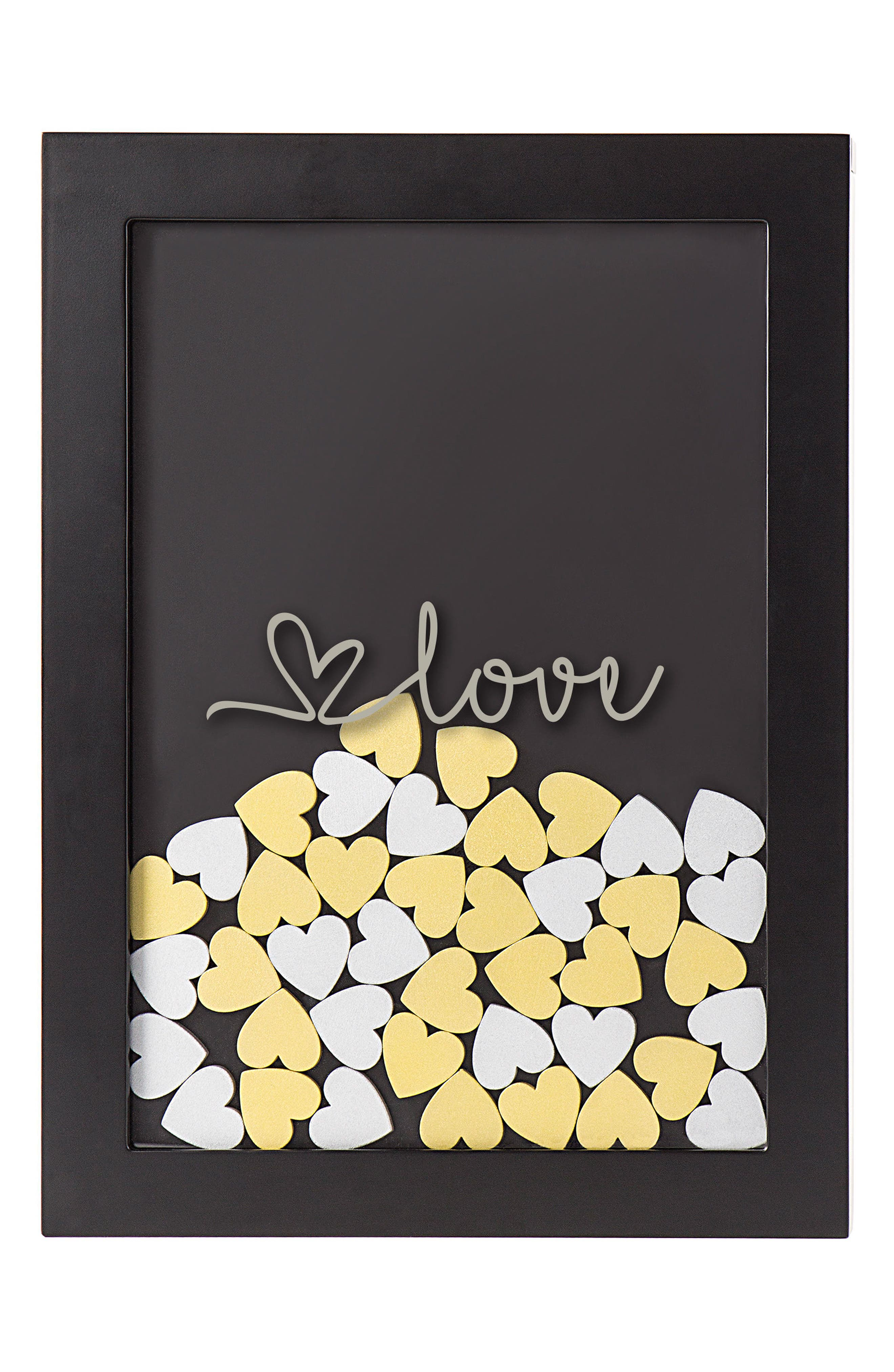 Heart Drop Guestbook,                         Main,                         color, Silver