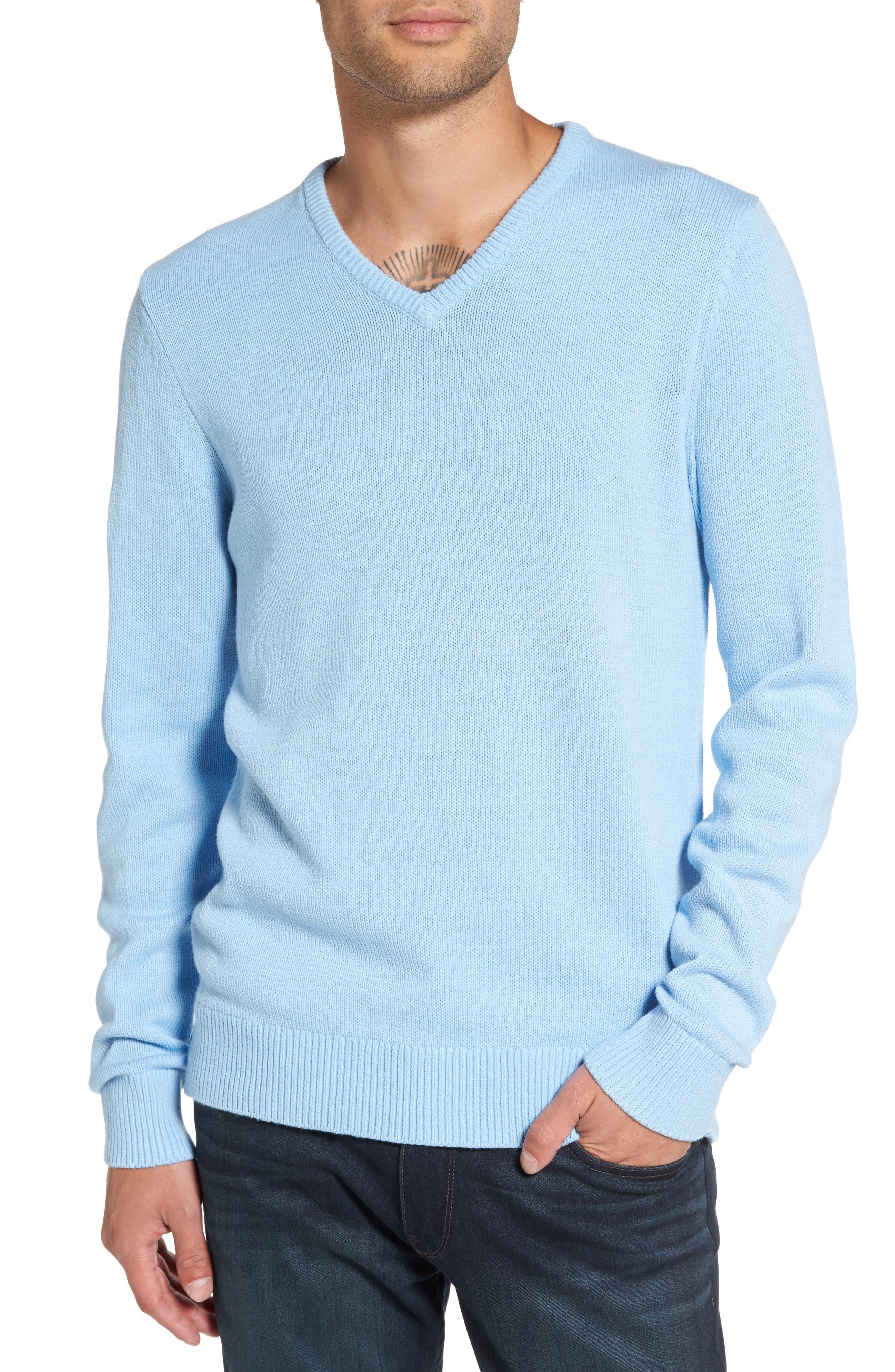1901 V-Neck Cotton Blend Sweater