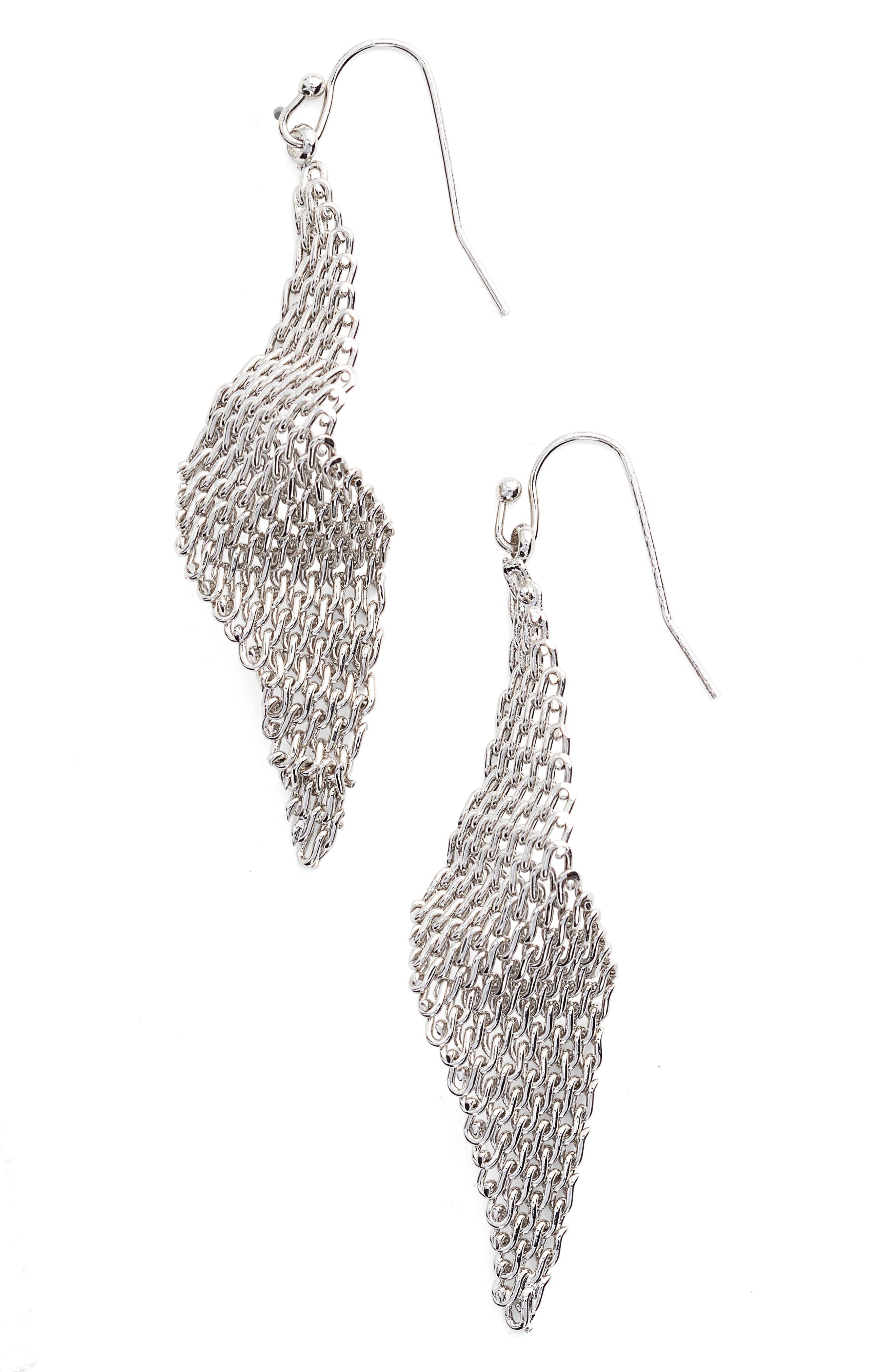 Jules Smith Mesh Wave Kite Earrings
