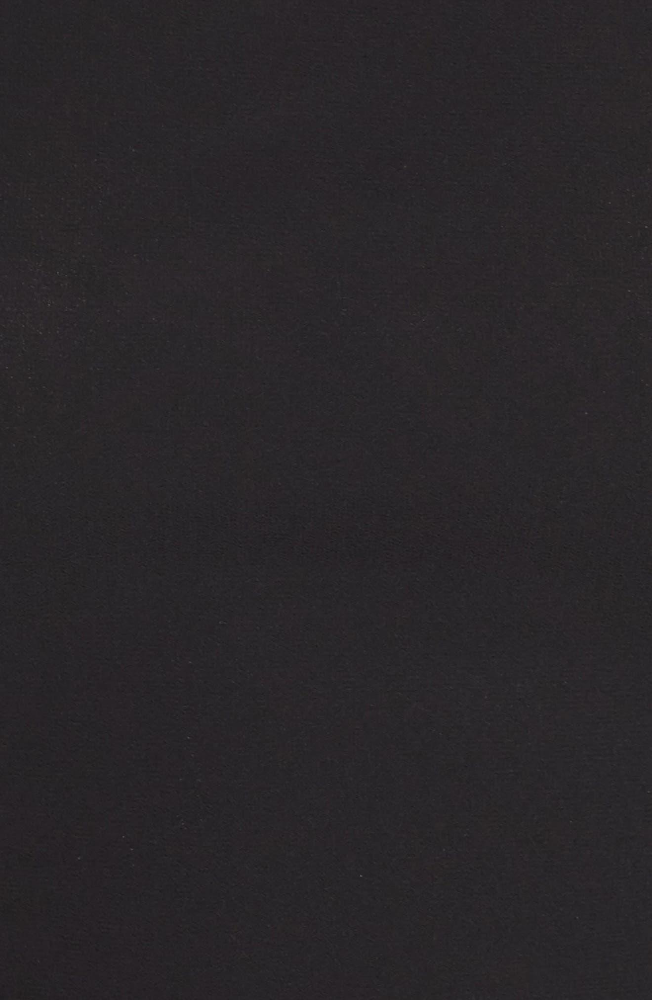 Good Deeds Lace-Up Skater Dress,                             Alternate thumbnail 5, color,                             Black