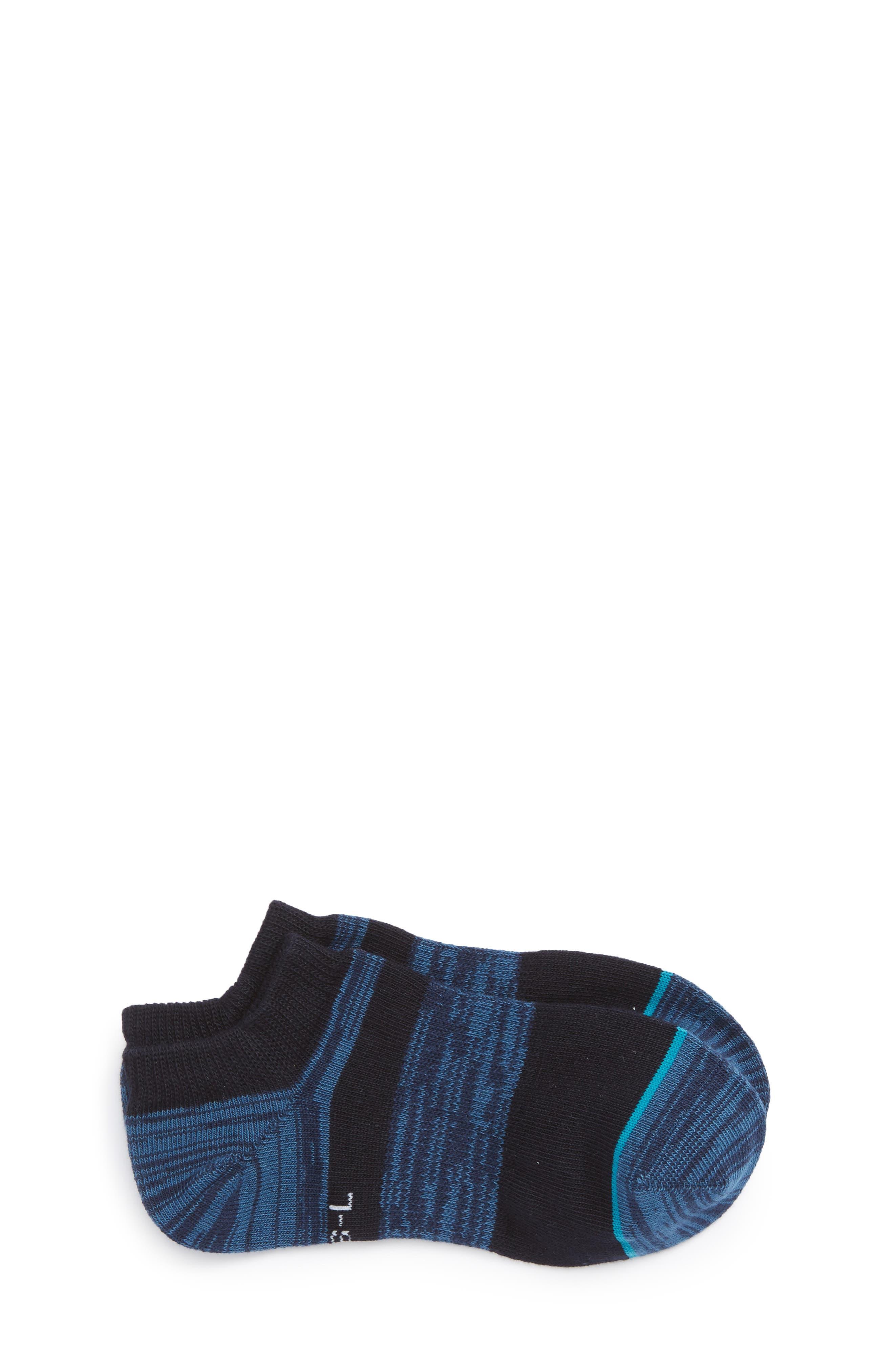 Domain Striped No-Show Socks,                         Main,                         color, Blue
