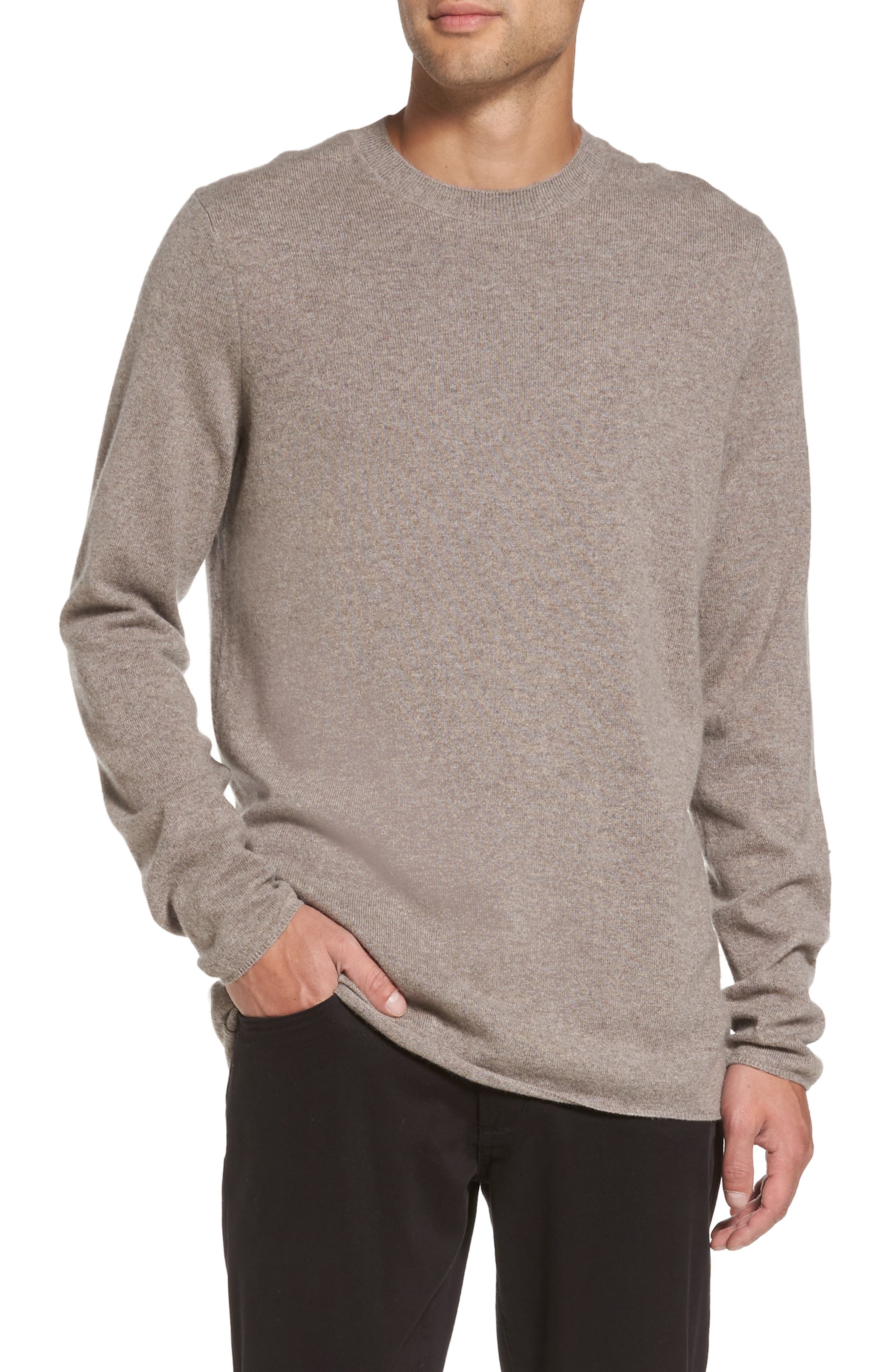 Regular Fit Crewneck Sweater,                         Main,                         color, Taupe