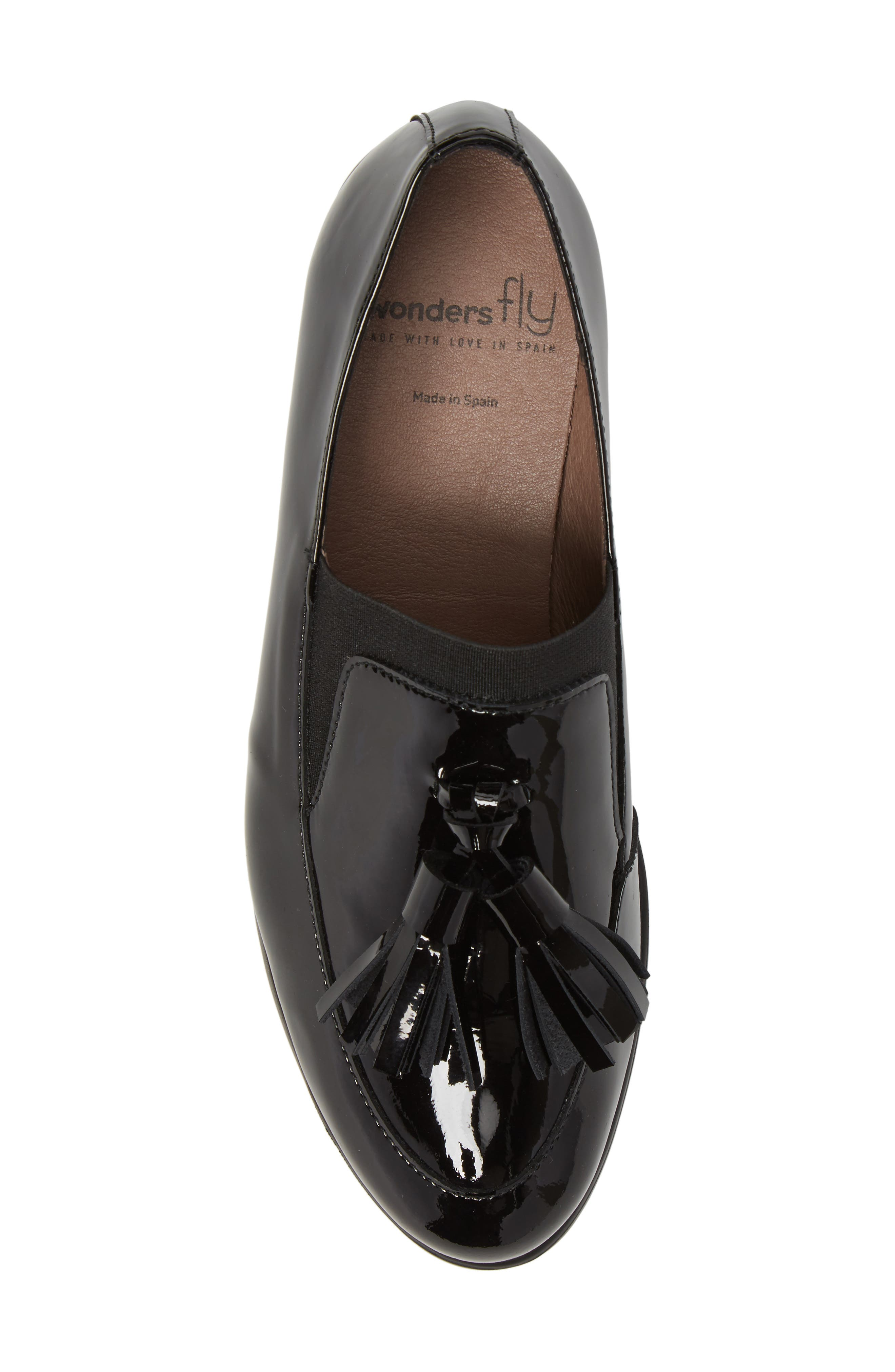 Talla Loafer Wedge,                             Alternate thumbnail 5, color,                             Black Patent Leather