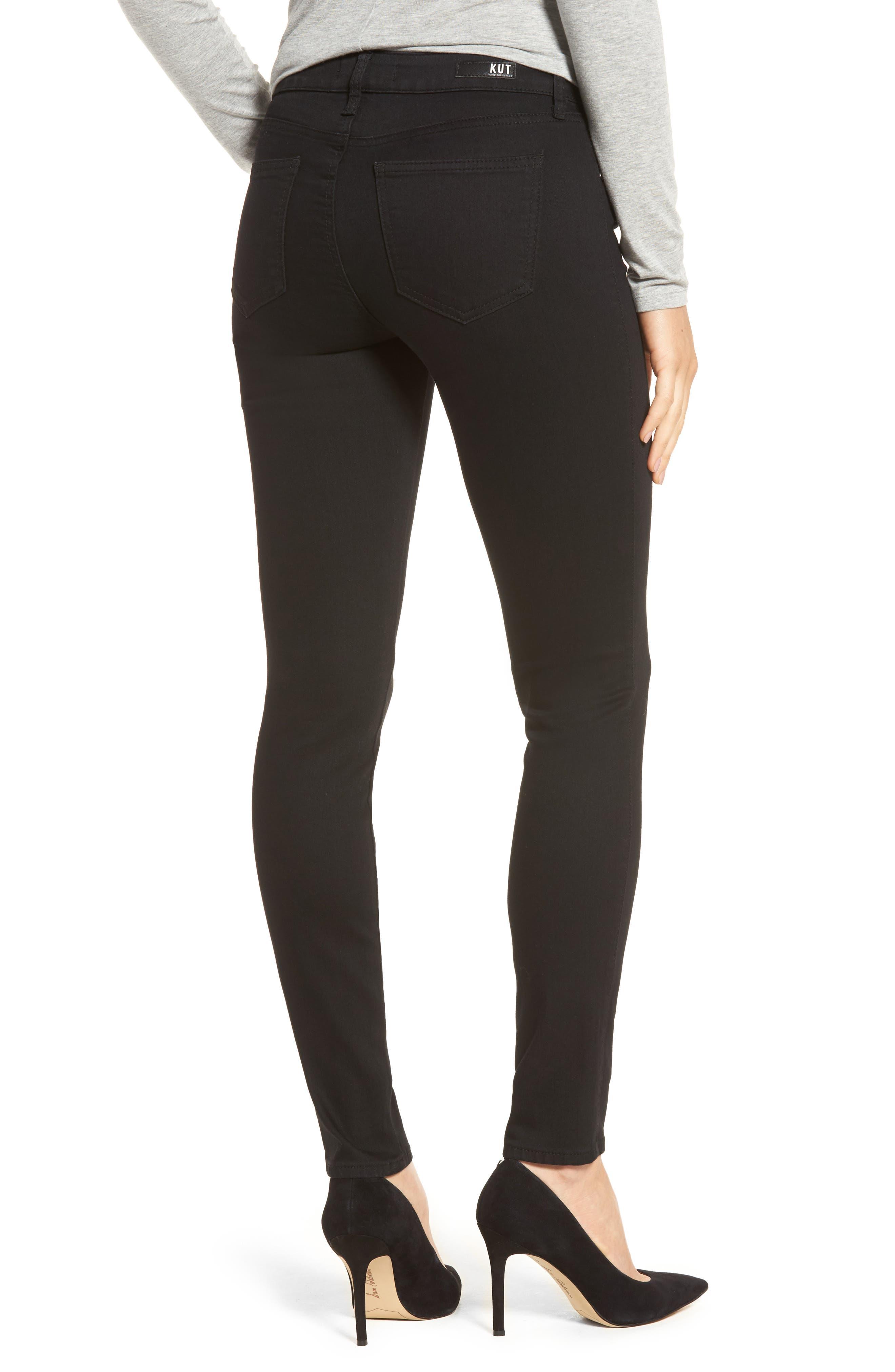 Diana Curvy Fit Skinny Jeans,                             Alternate thumbnail 2, color,                             Black