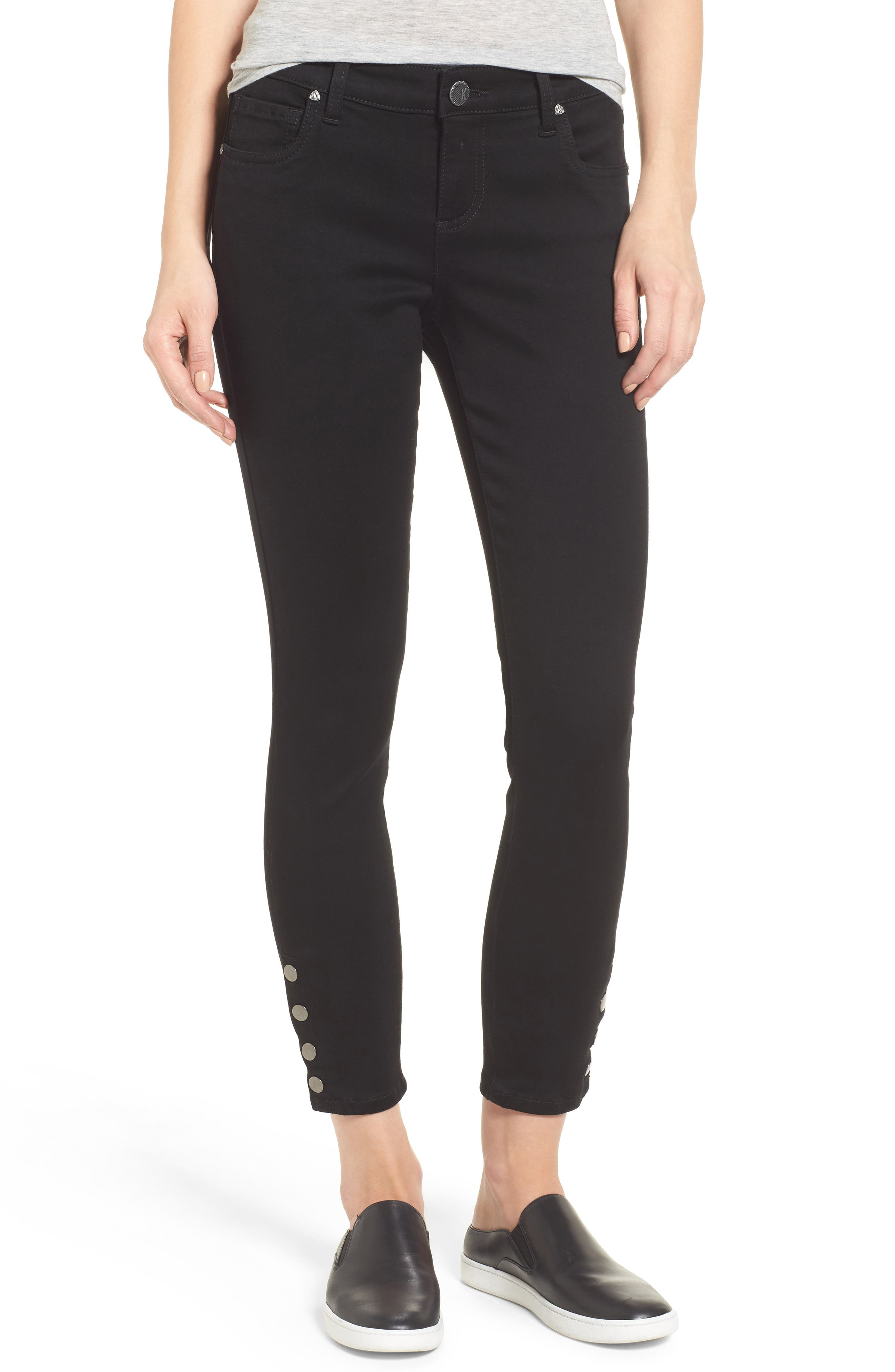Alternate Image 1 Selected - KUT from the Kloth Snap Ankle Jeans (Regular & Petite)