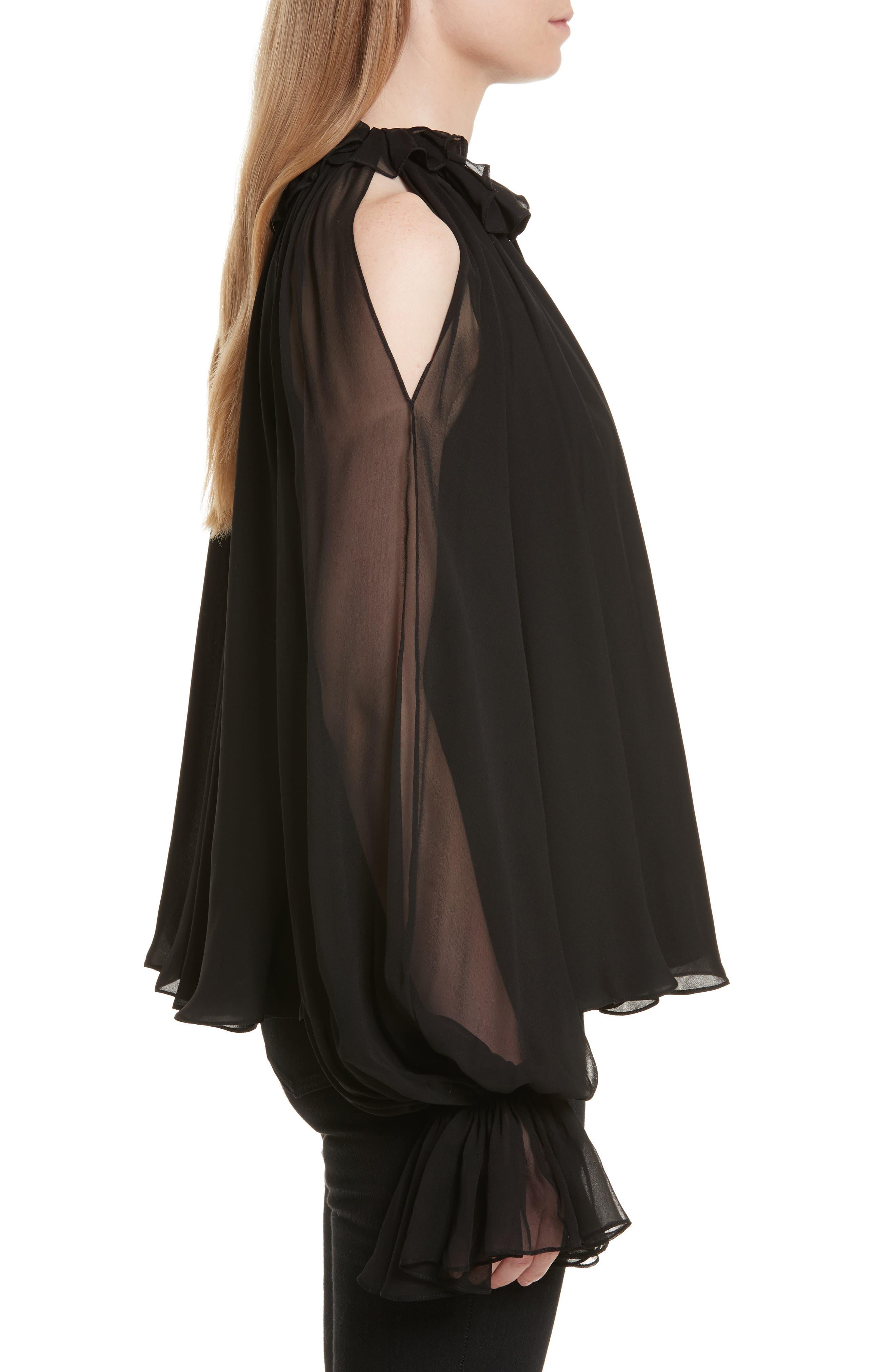Alternate Image 3  - Jonathan Simkhai Silk Ruffle Cold Shoulder Top