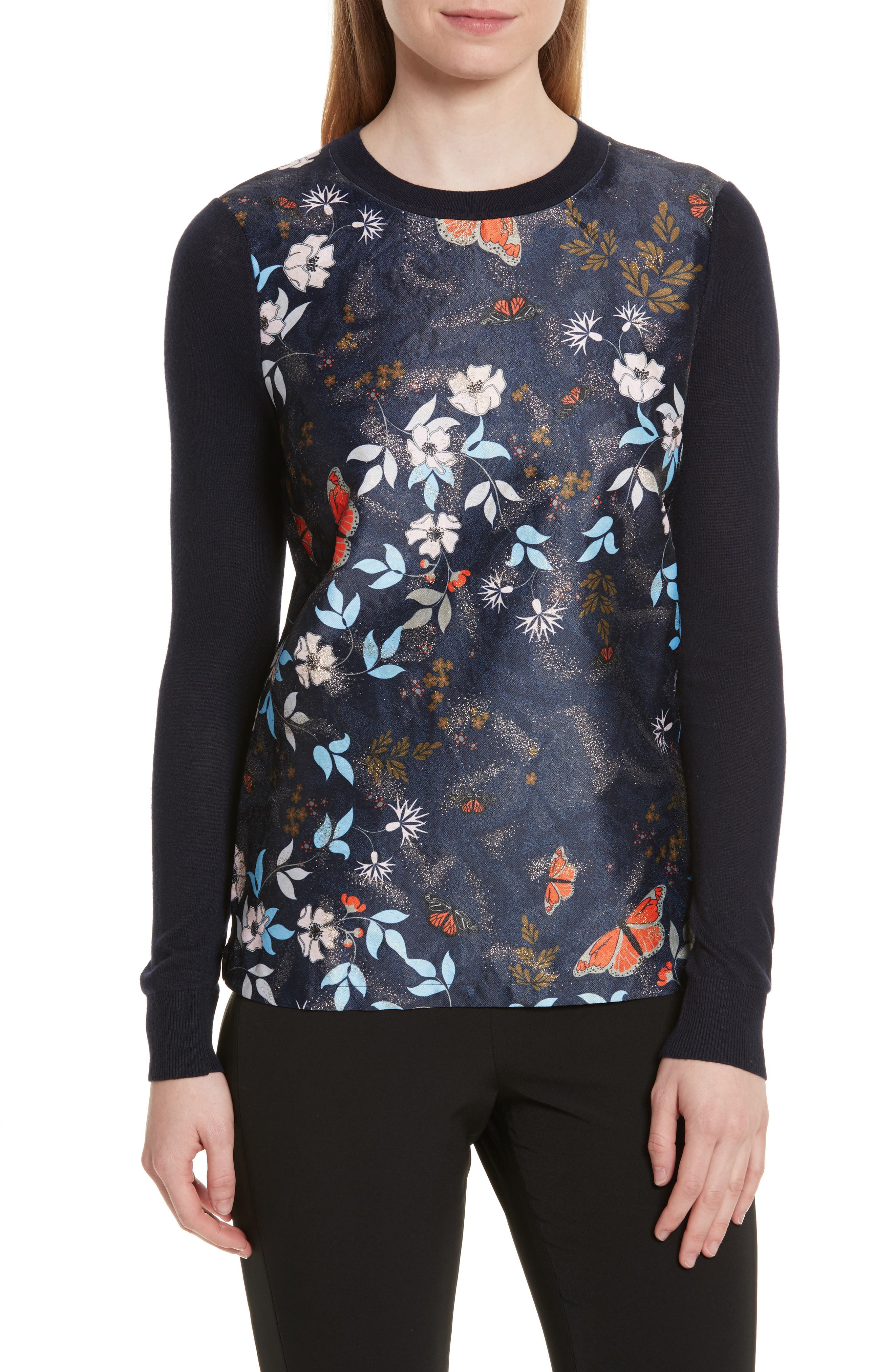 Main Image - Ted Baker London Khlo Kyoto Gardens Jacquard Sweater