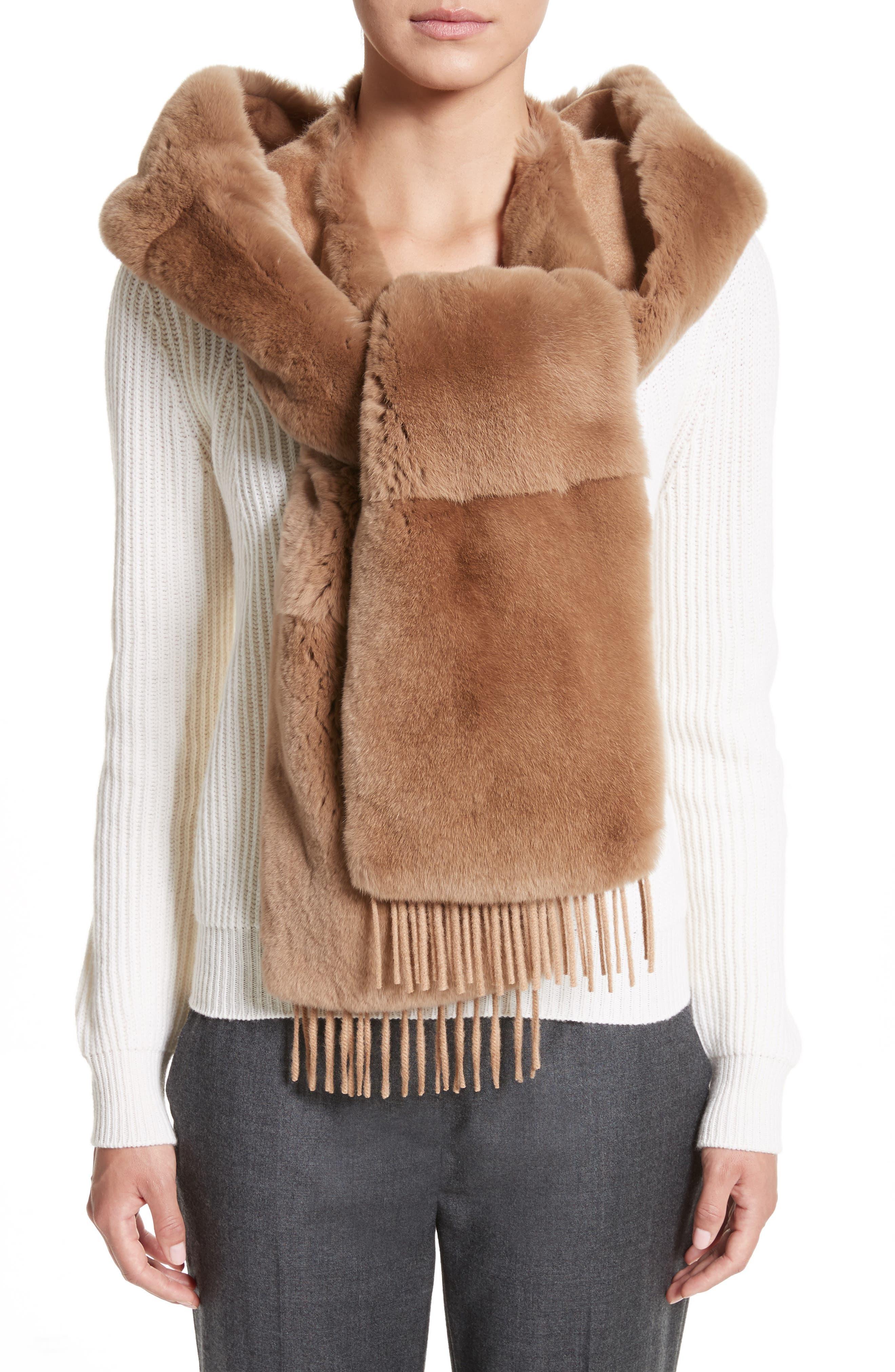 Alternate Image 1 Selected - Max Mara Genuine Rabbit Fur Scarf