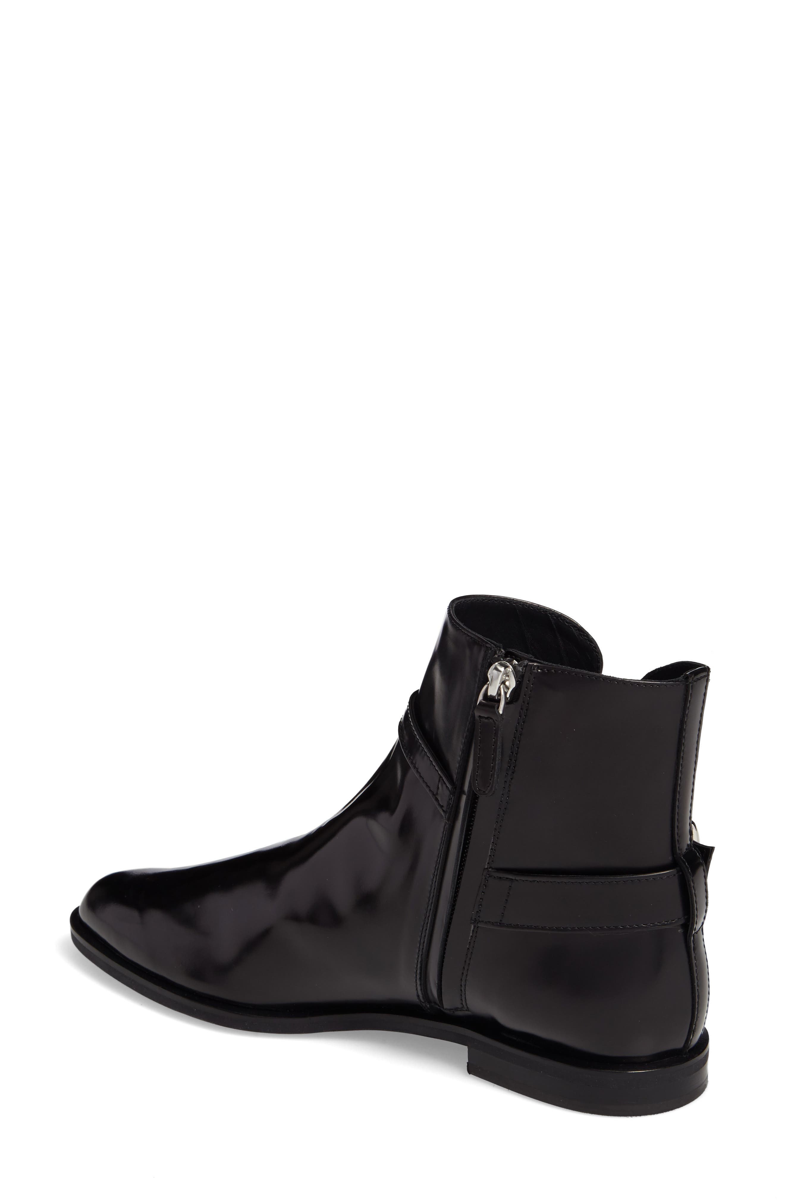Pointy Toe Bootie,                             Alternate thumbnail 2, color,                             Black
