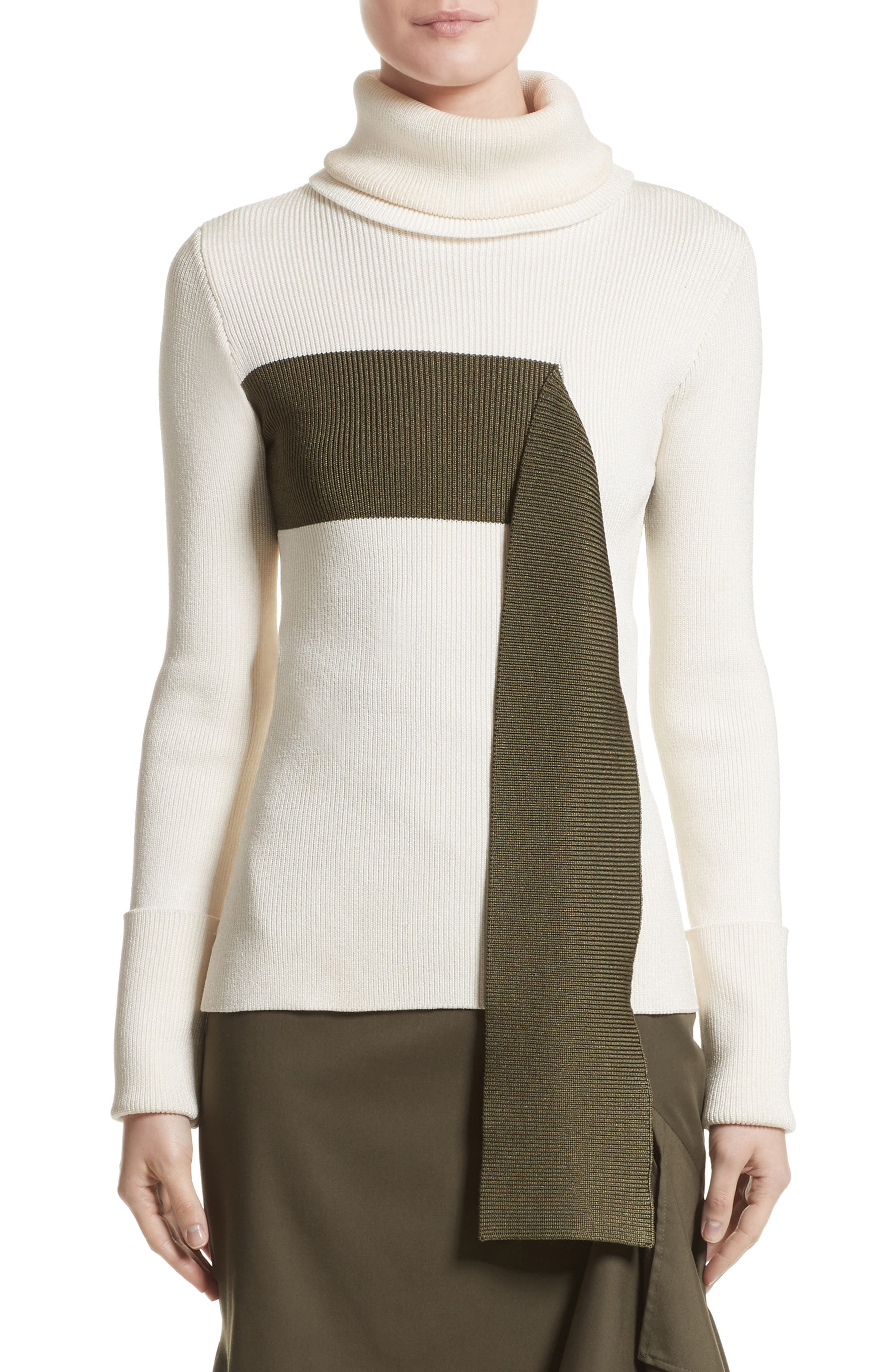 Monse Falling Stripe Turtleneck Sweater