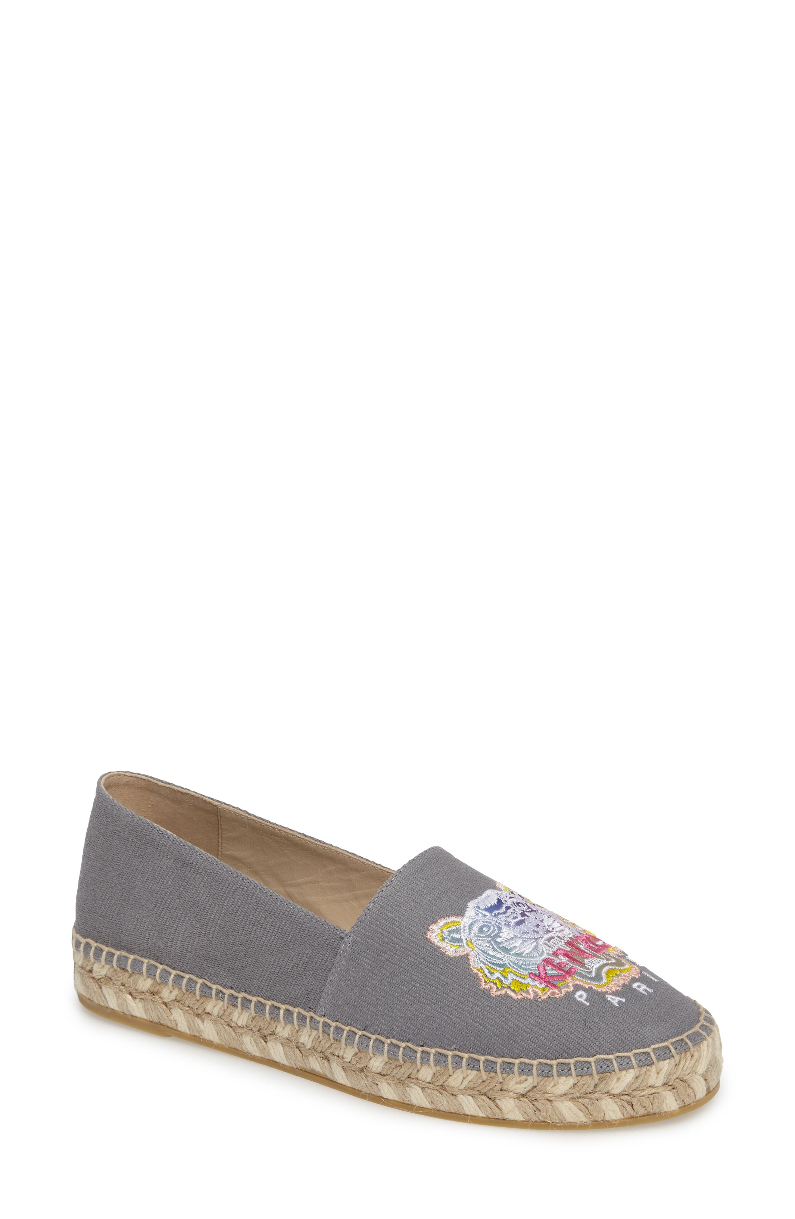 KENZO Rainbow Tiger Embroidered Espadrille (Women)