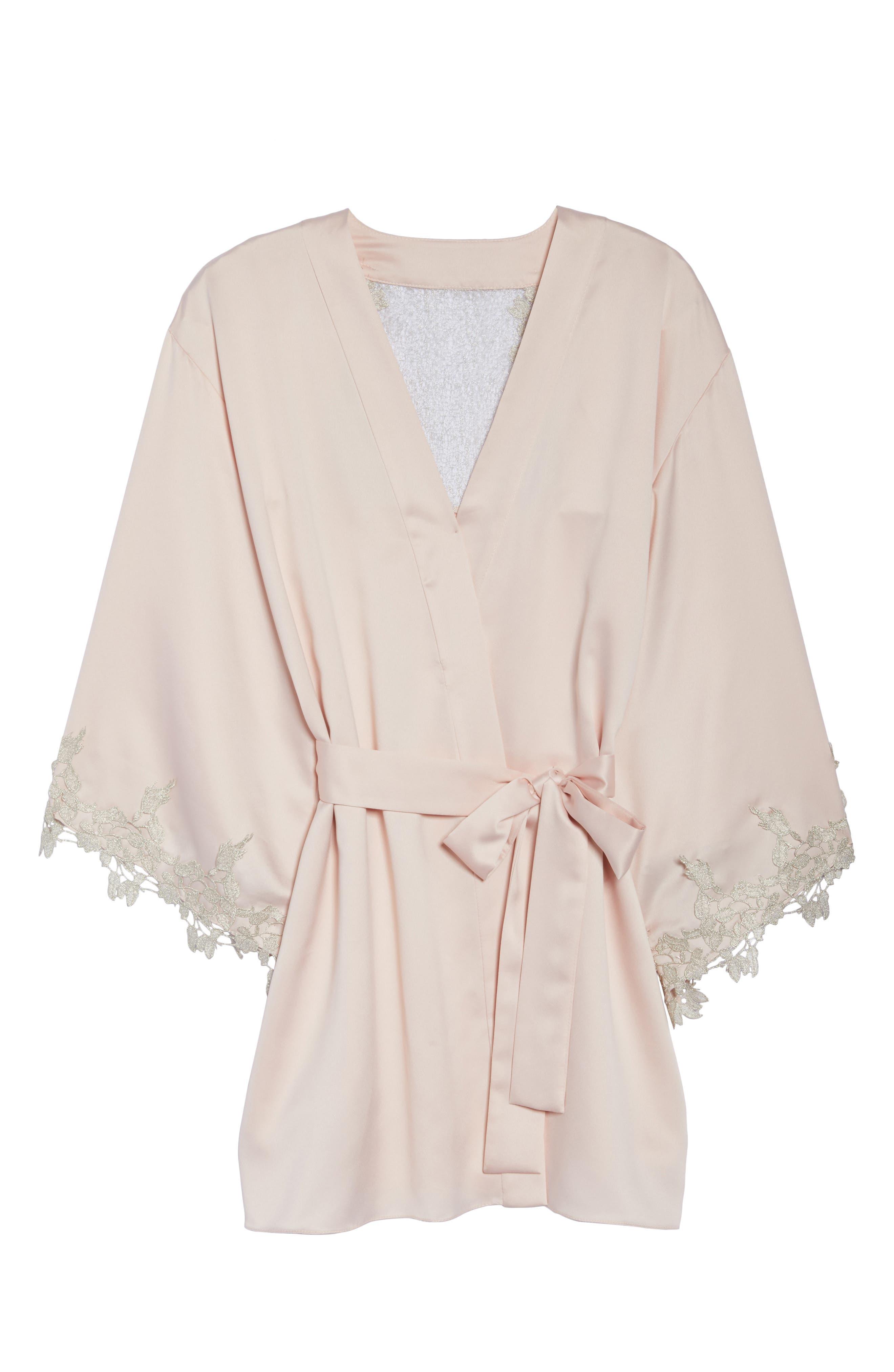 Alternate Image 4  - Flora Nikrooz Alessia Charm Satin Robe