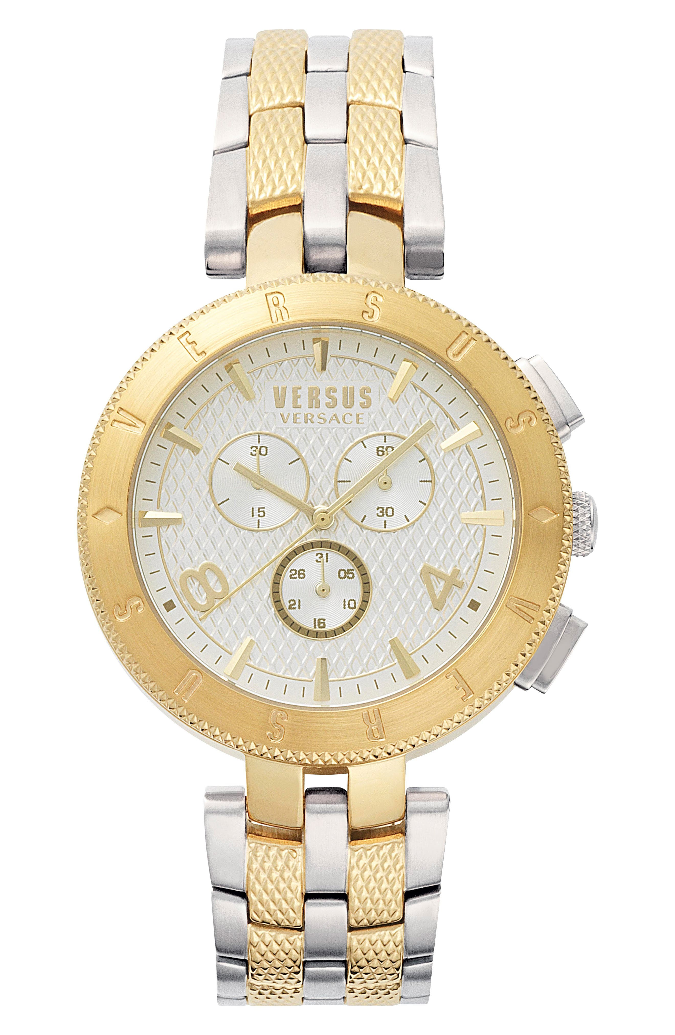Versus by Versace Logo Chronograph Bracelet Watch, 44mm