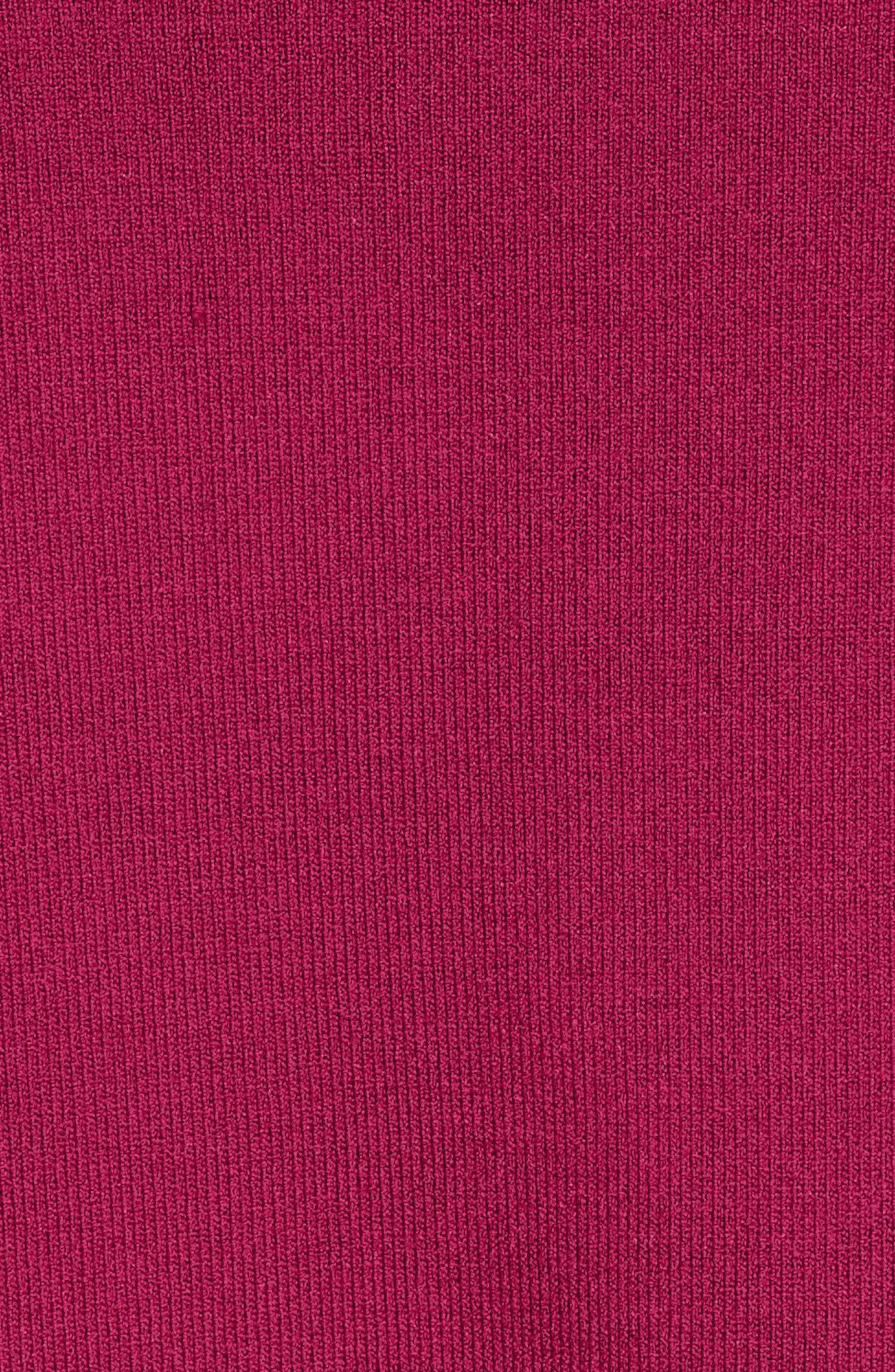 Lissye Cutout Detail Cardigan,                             Alternate thumbnail 6, color,                             Deep Pink