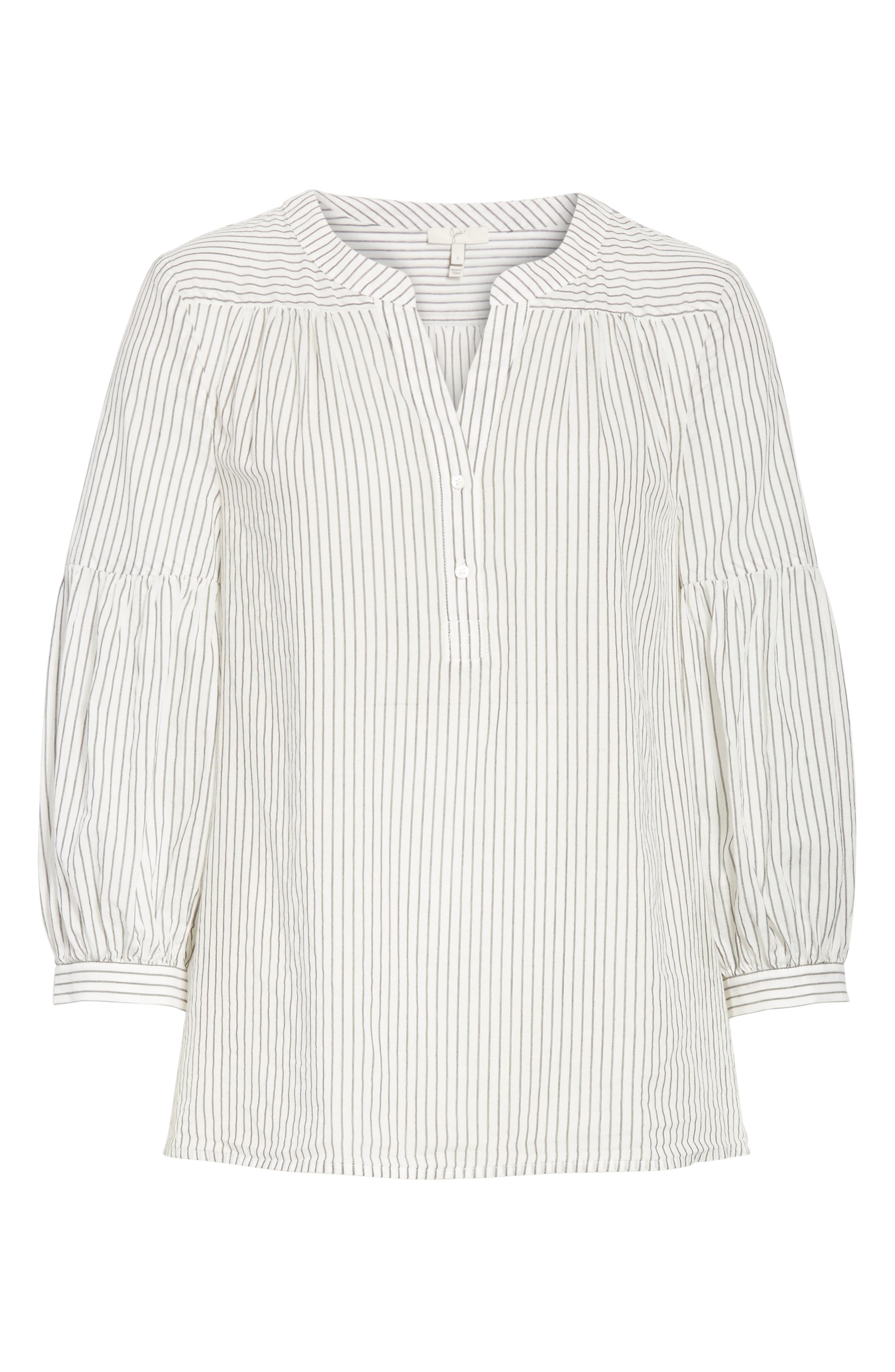 Alternate Image 6  - Joie Aldys Stripe Cotton Top