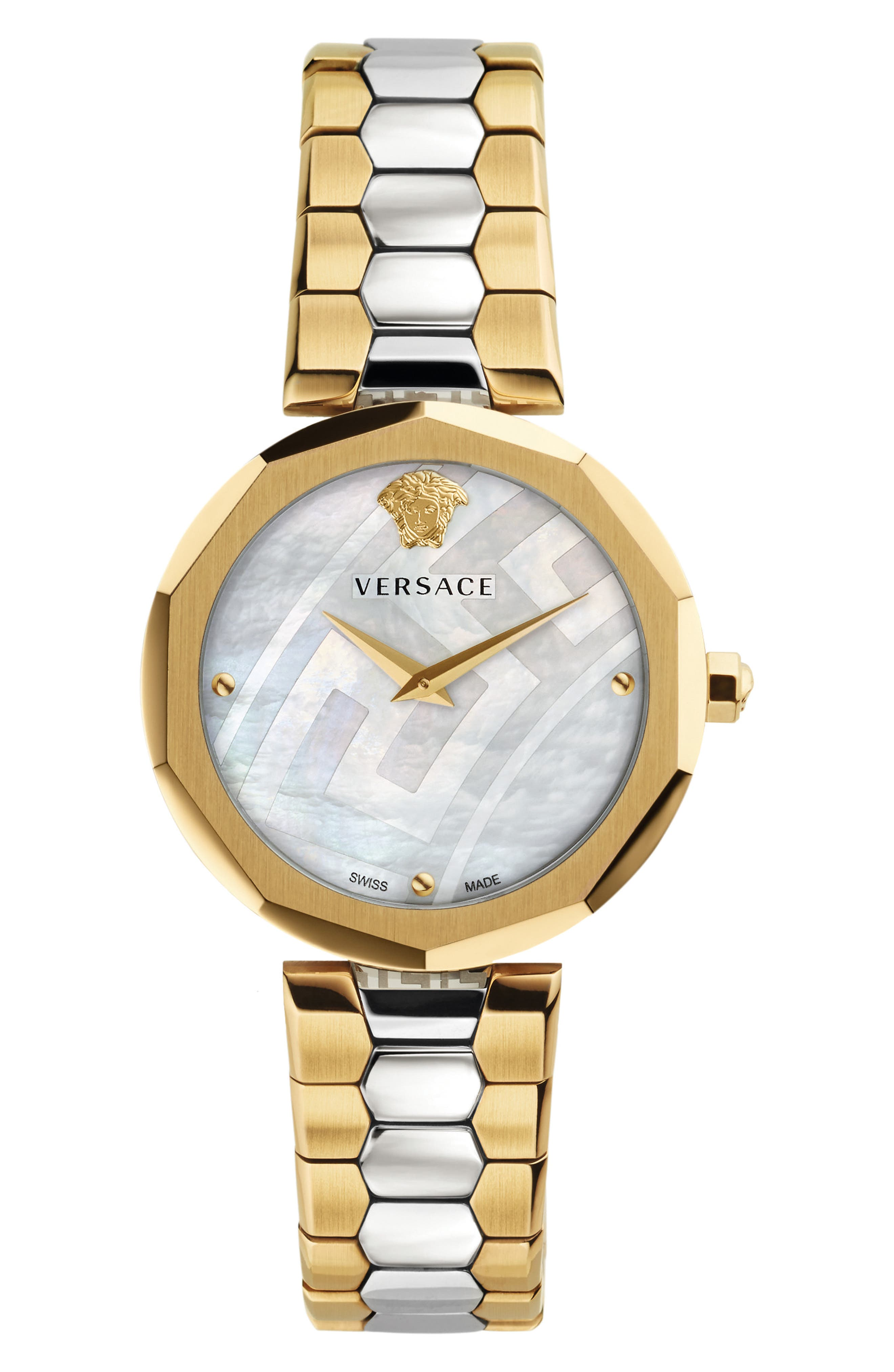 Idyia Bracelet Watch, 36mm,                         Main,                         color, Silver/ Mop/ Gold