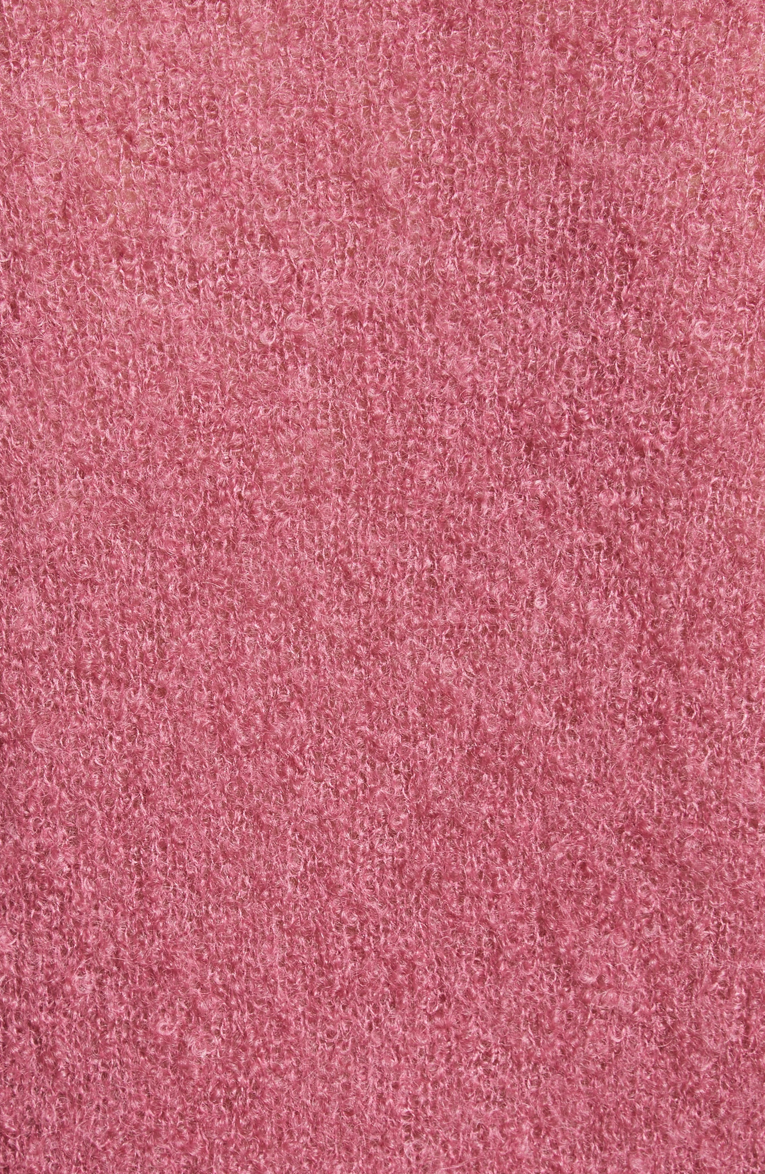 Tatum Mohair & Silk Sweater,                             Alternate thumbnail 5, color,                             Ruby Pink