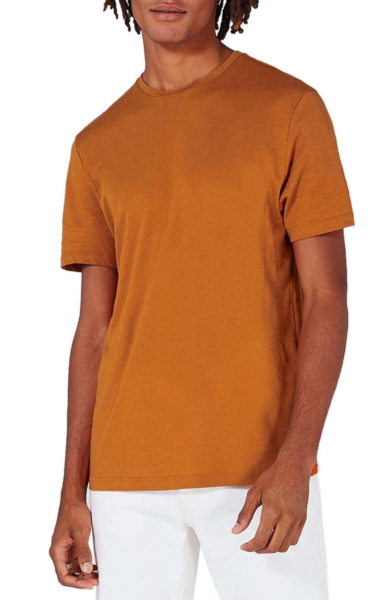 Crewneck T-Shirt,                         Main,                         color, Rust Orange