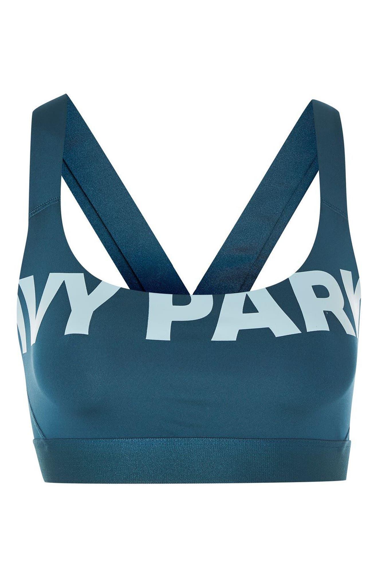 Alternate Image 4  - IVY PARK® Logo Mesh Sports Bra