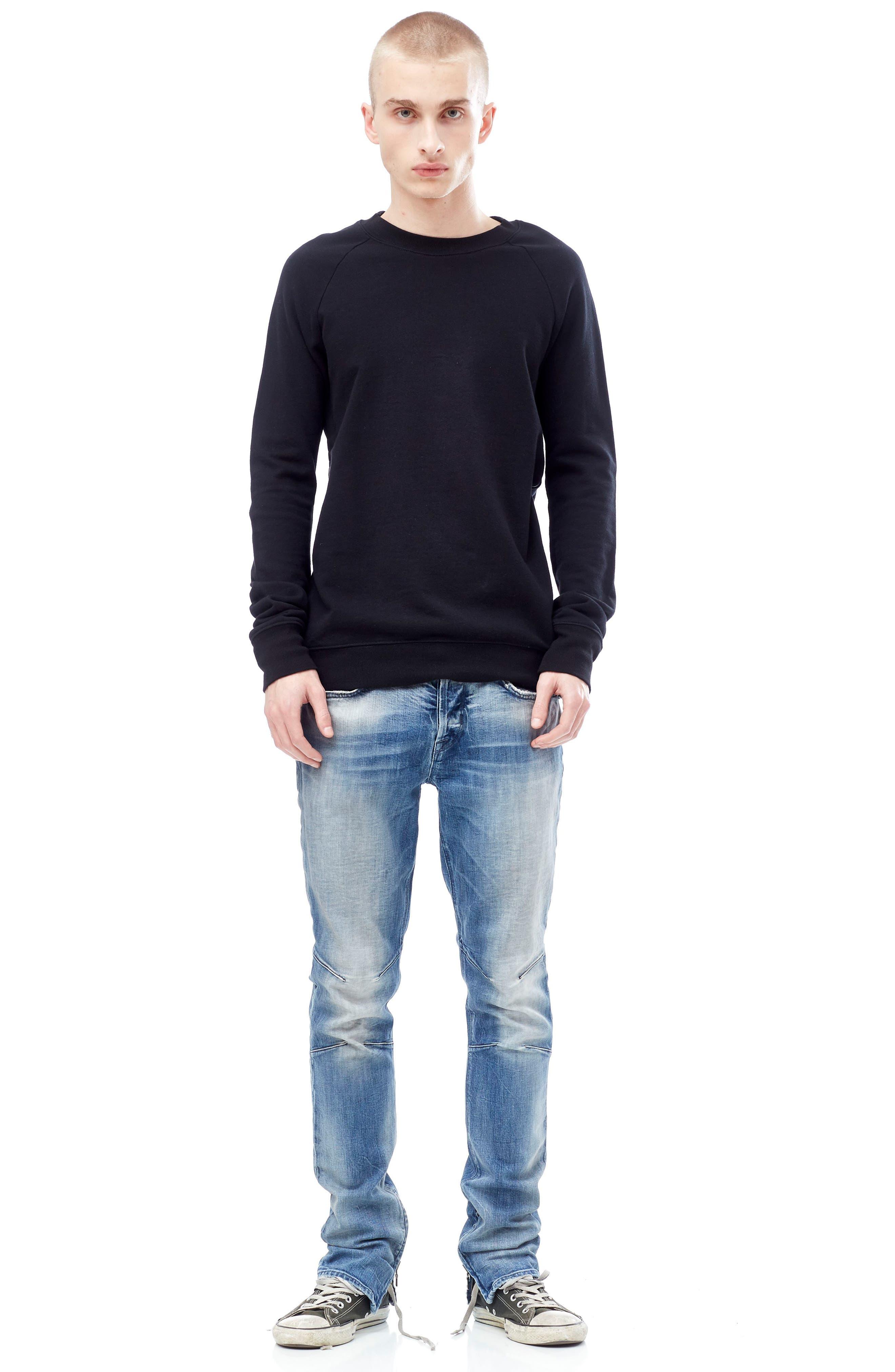 Vaughn Biker Skinny Fit Jeans,                             Alternate thumbnail 7, color,                             No Remorse