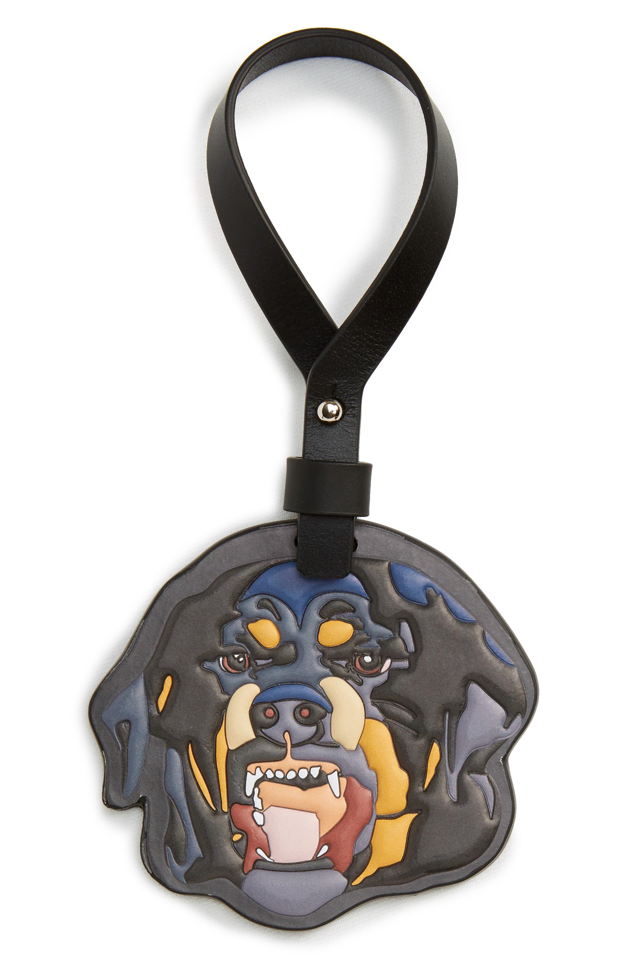 Rottweiler Key Chain,                             Main thumbnail 1, color,                             Black Multi