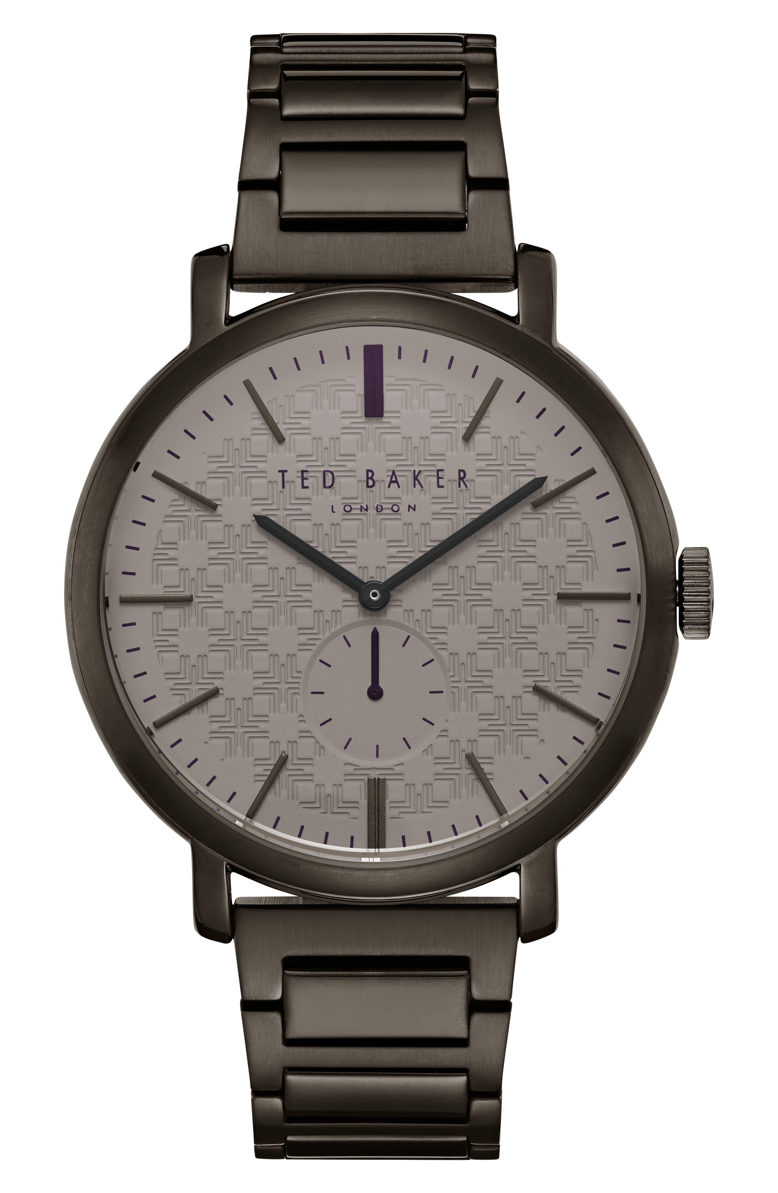 Trent Bracelet Watch, 44mm,                         Main,                         color, Brown/ Gunmetal