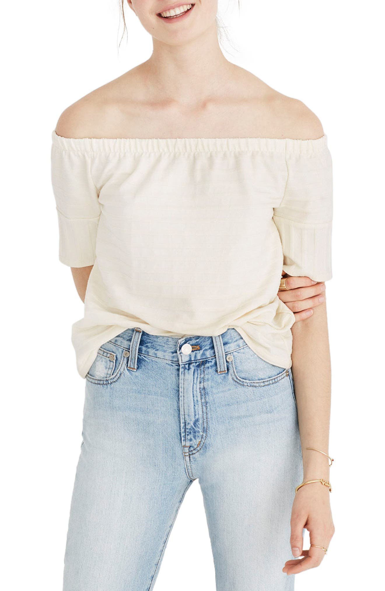 Main Image - Madewell Off the Shoulder Knit Top