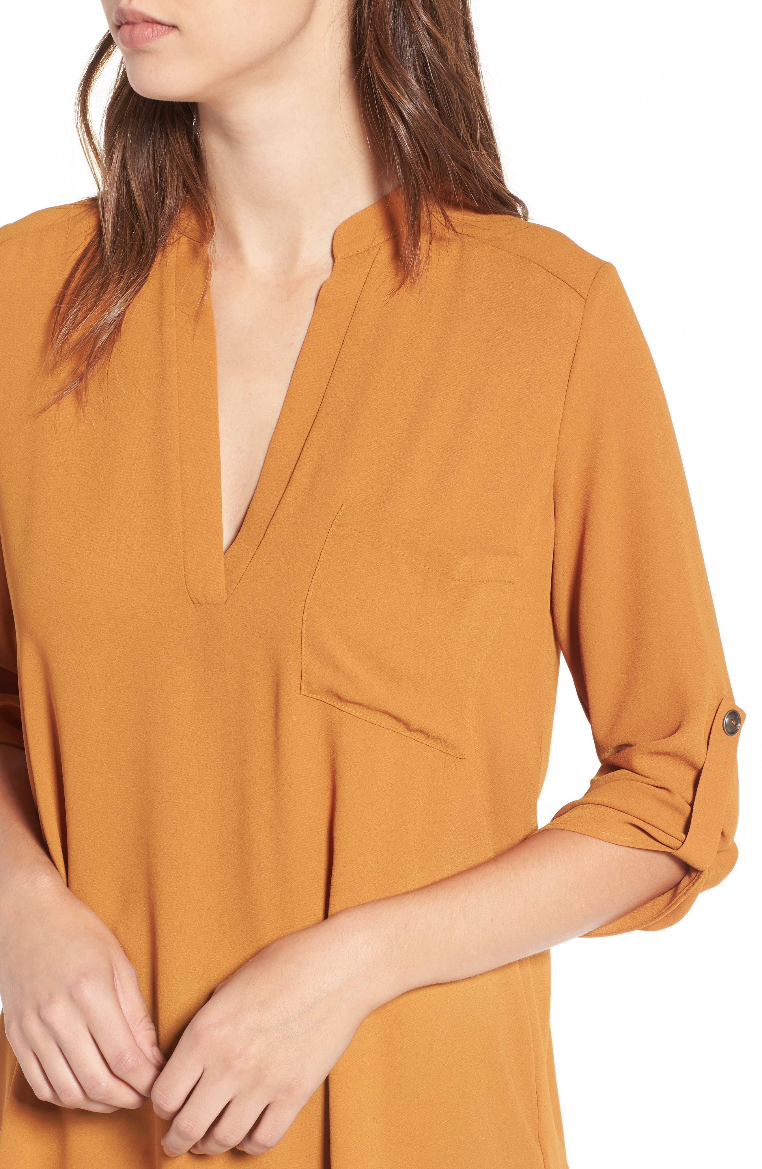 Alternate Image 4  - Lush Perfect Roll Tab Sleeve Tunic