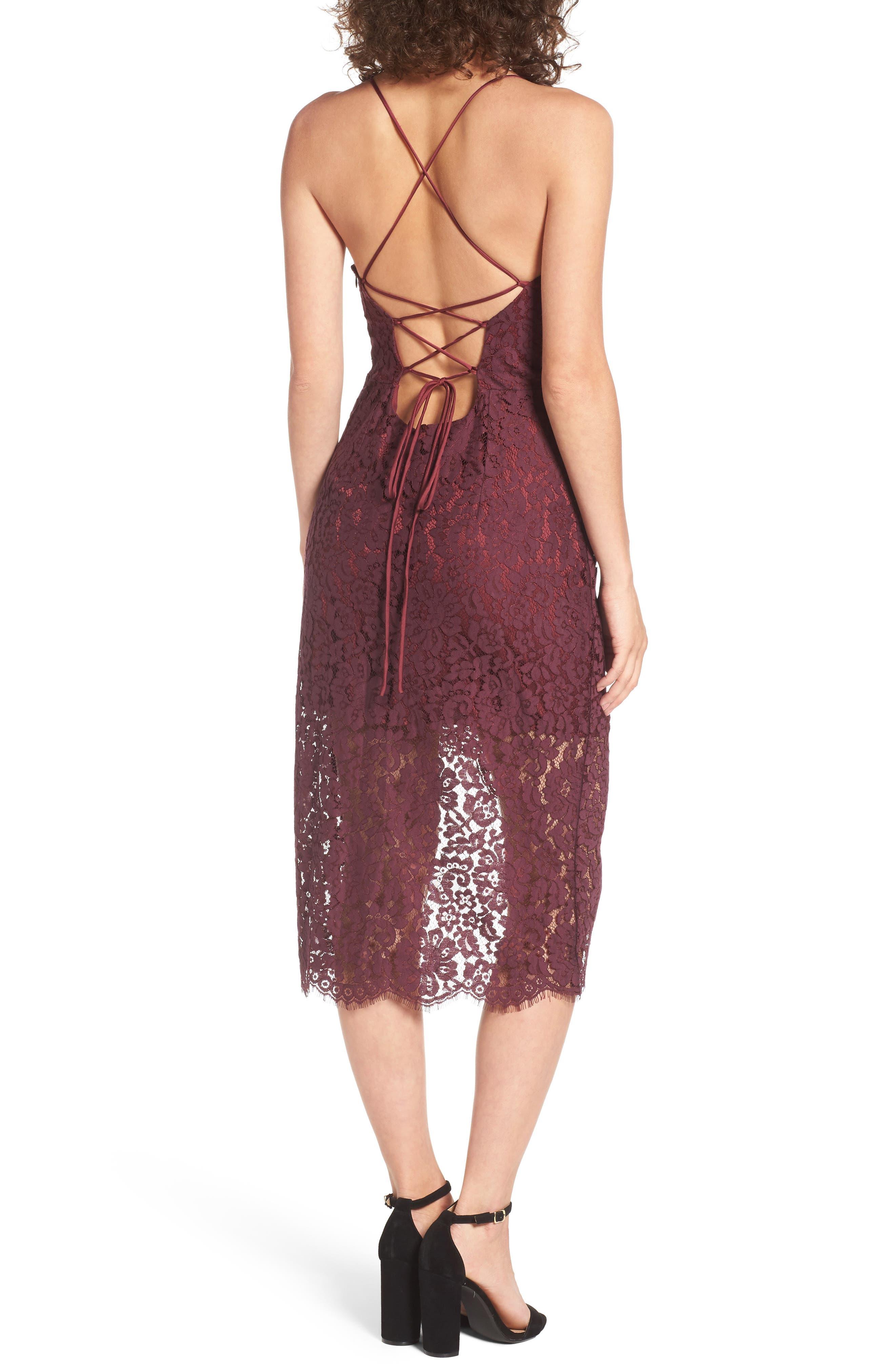 Alternate Image 2  - Lovers + Friends Skylight Lace Midi Dress