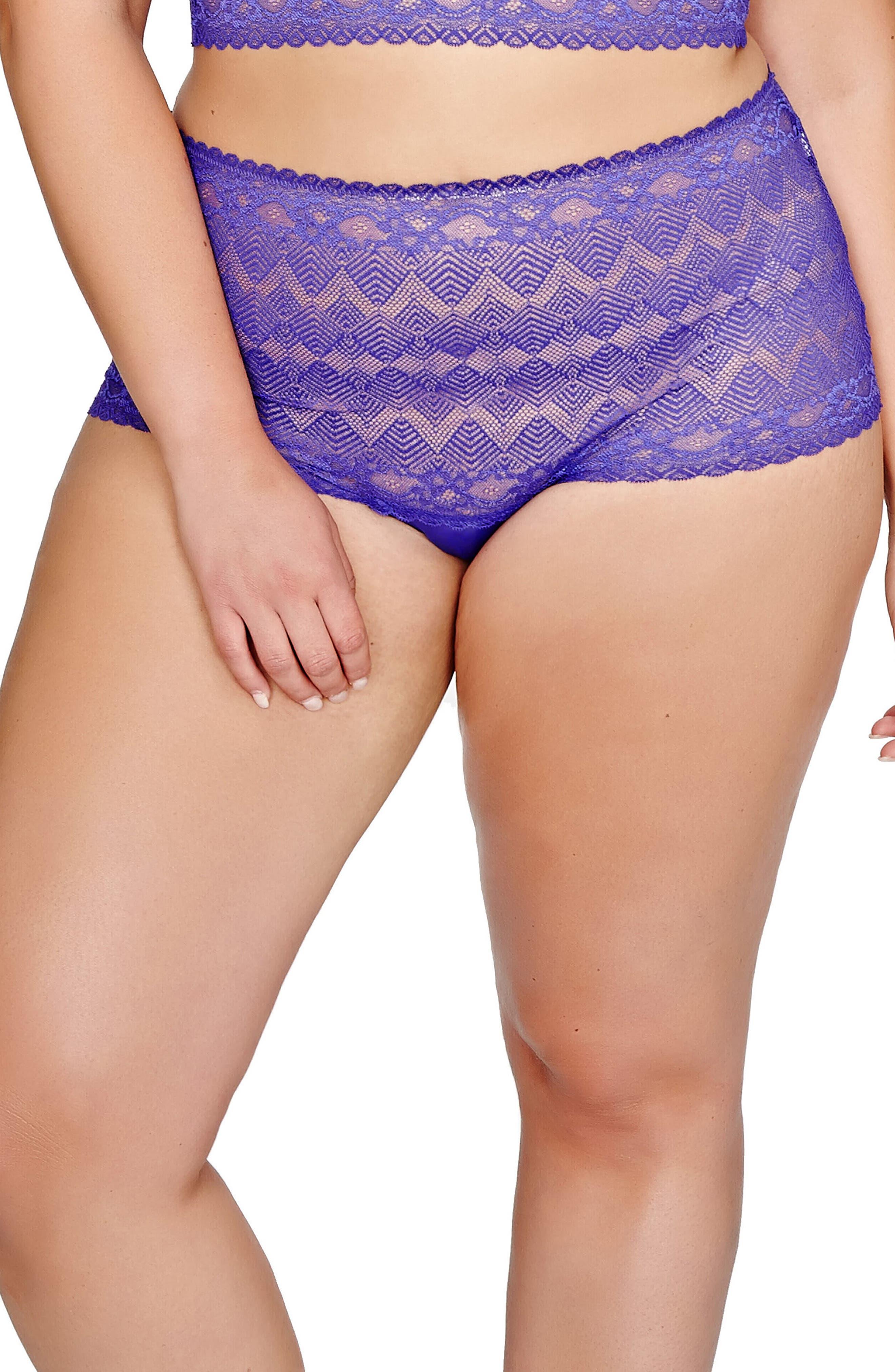 Lace Thong,                         Main,                         color, Purple Rain