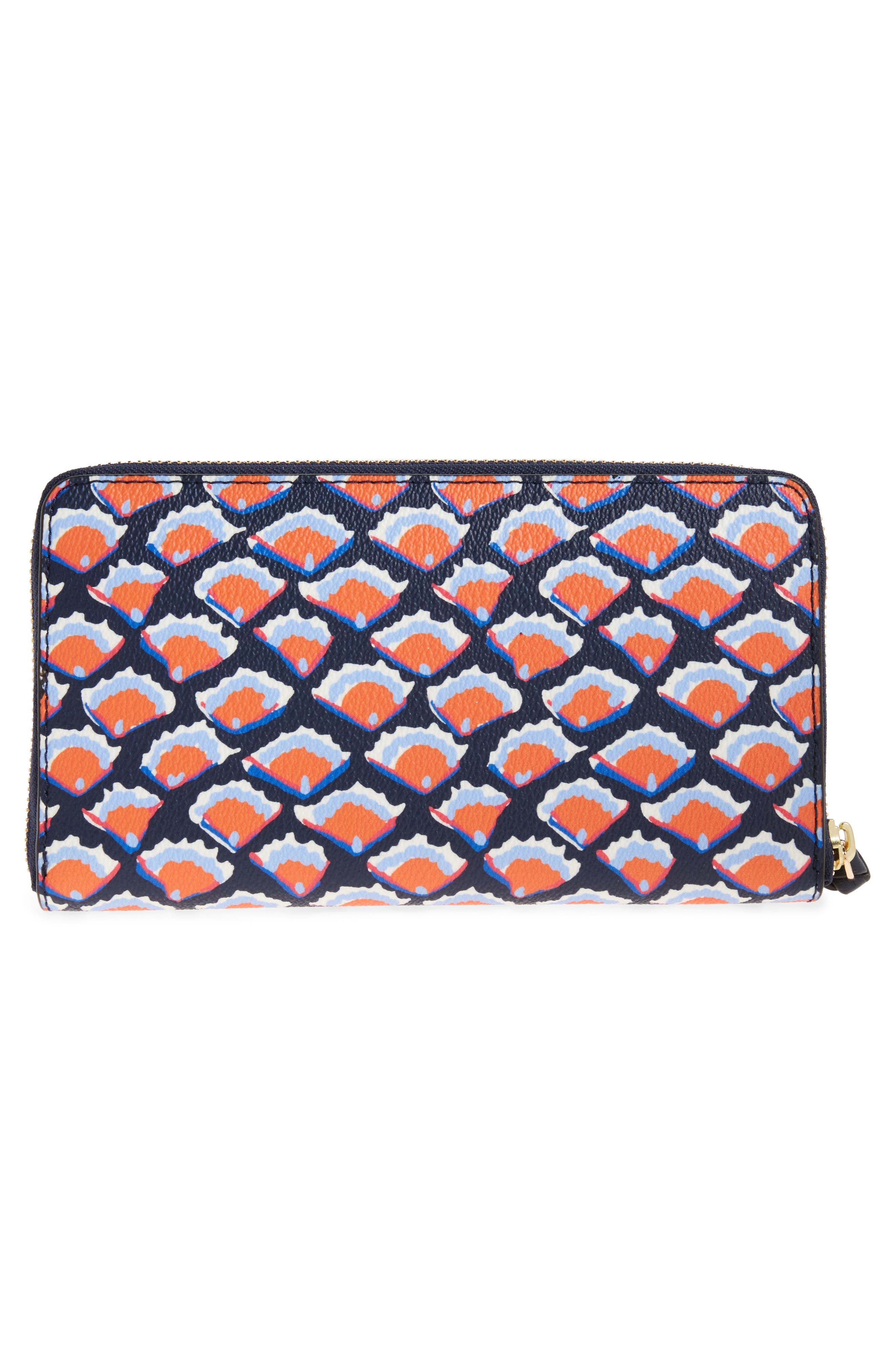 Alternate Image 4  - Tory Burch Kerrington Coated Canvas Zip Around Wallet