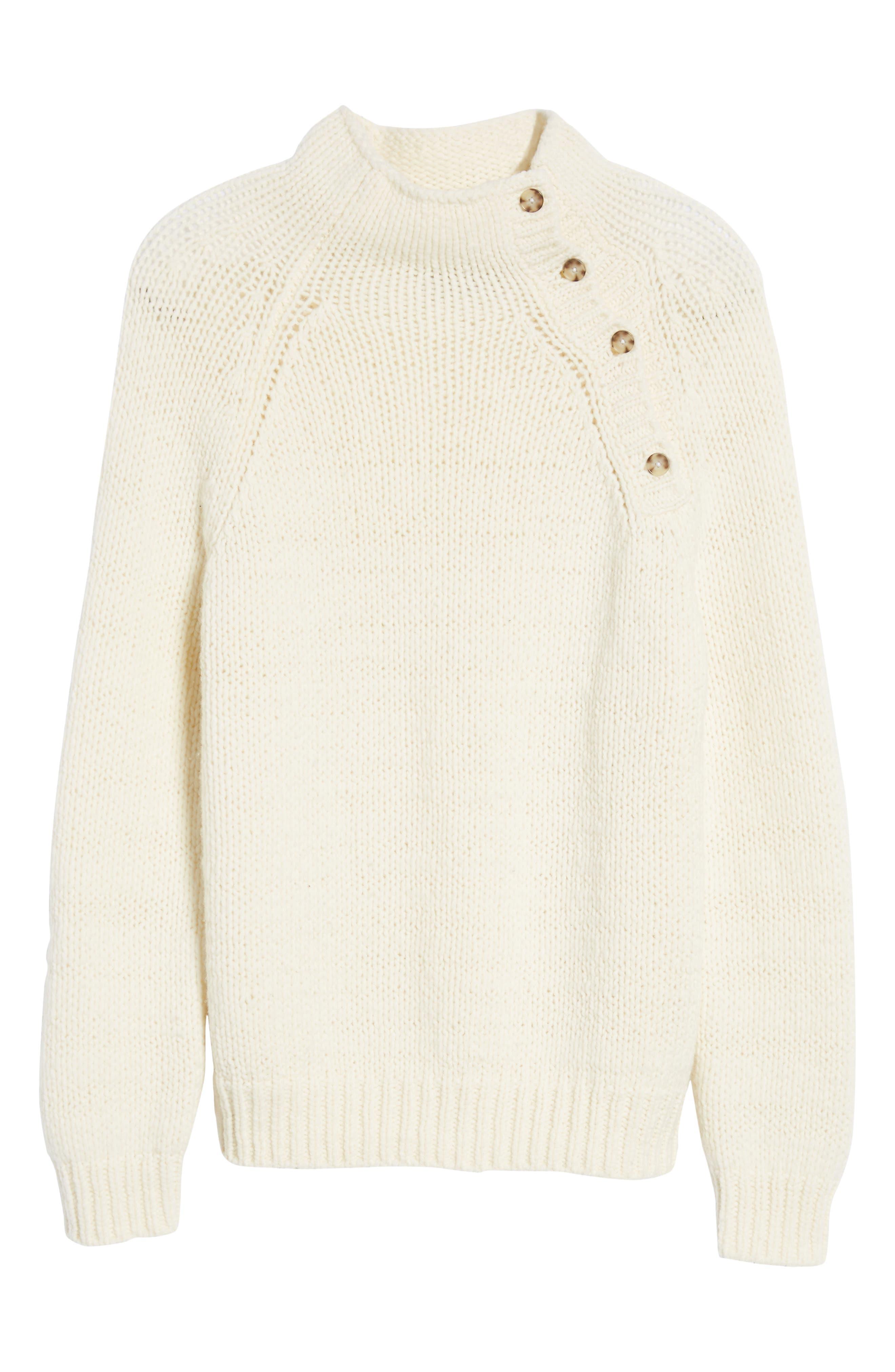 Alternate Image 5  - Vince Side Button Mock Neck Sweater
