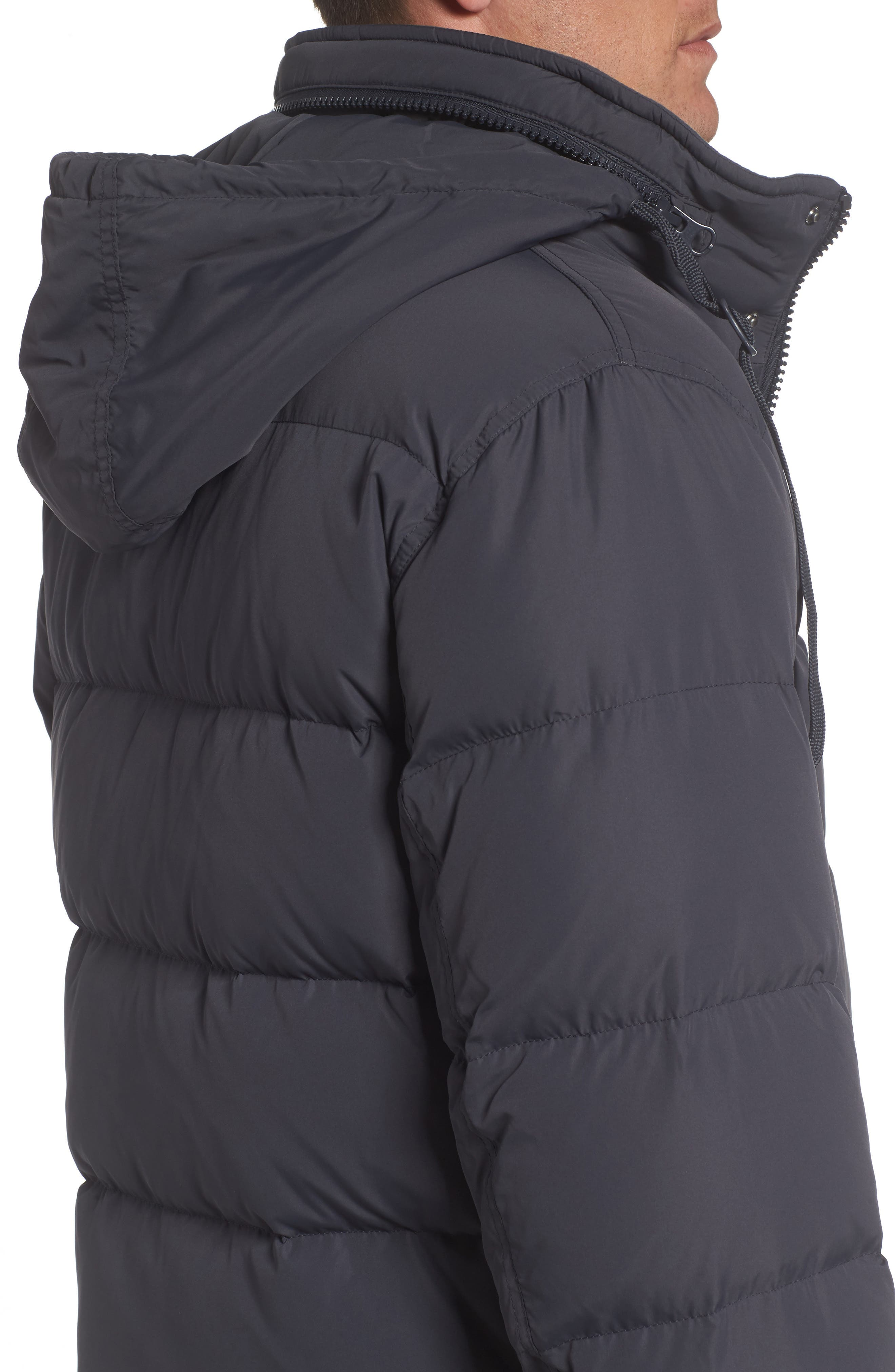 Andrew Marc Carlton Quilted Parka,                             Alternate thumbnail 4, color,                             Magnet