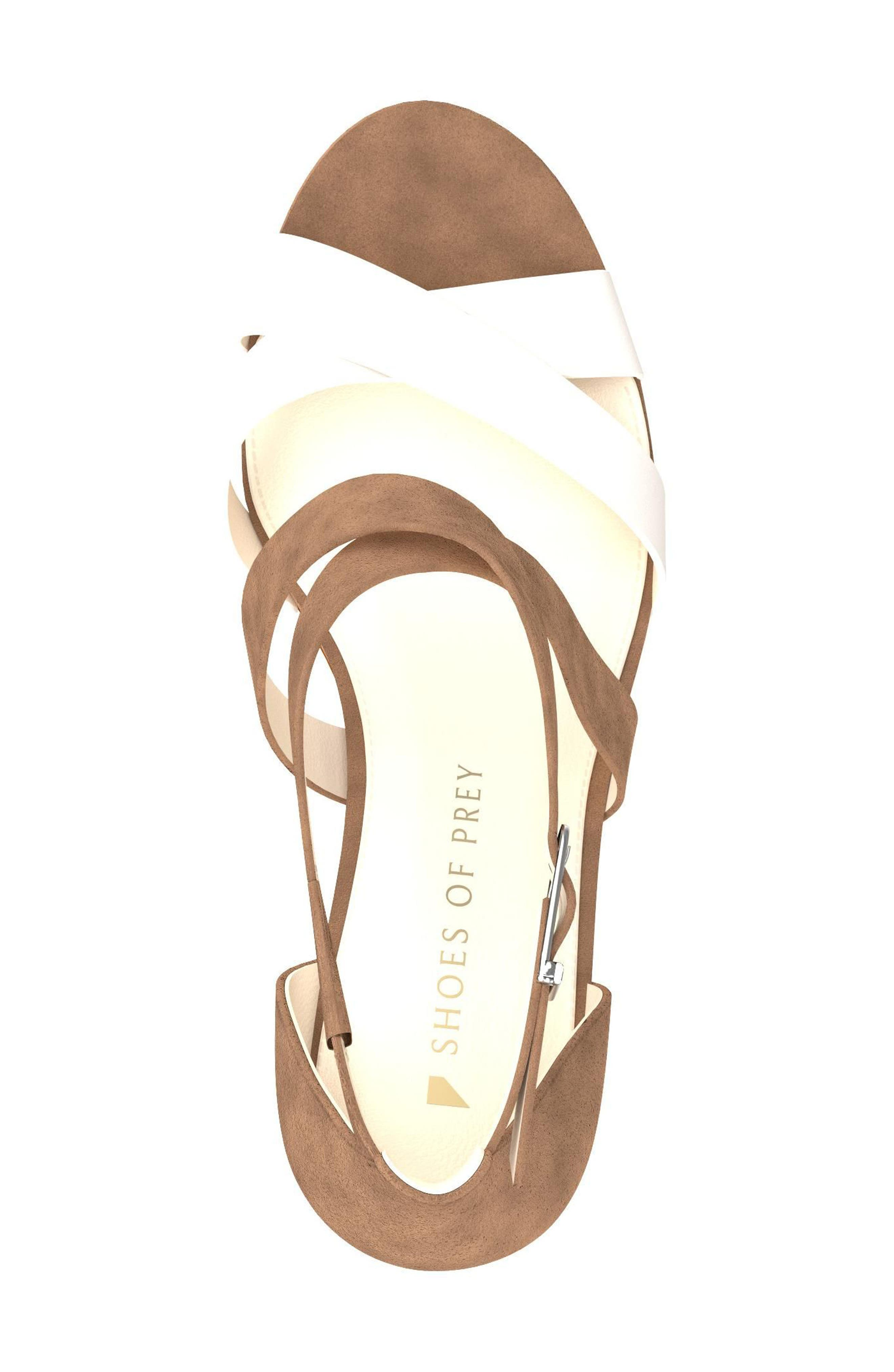 Crisscross Strappy Sandal,                             Alternate thumbnail 5, color,                             Tan Suede
