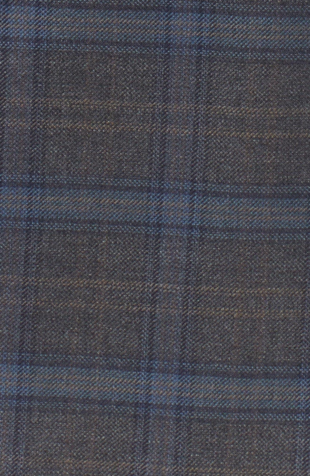 Arnold Classic Fit Plaid Wool Sport Coat,                             Alternate thumbnail 5, color,                             Grey