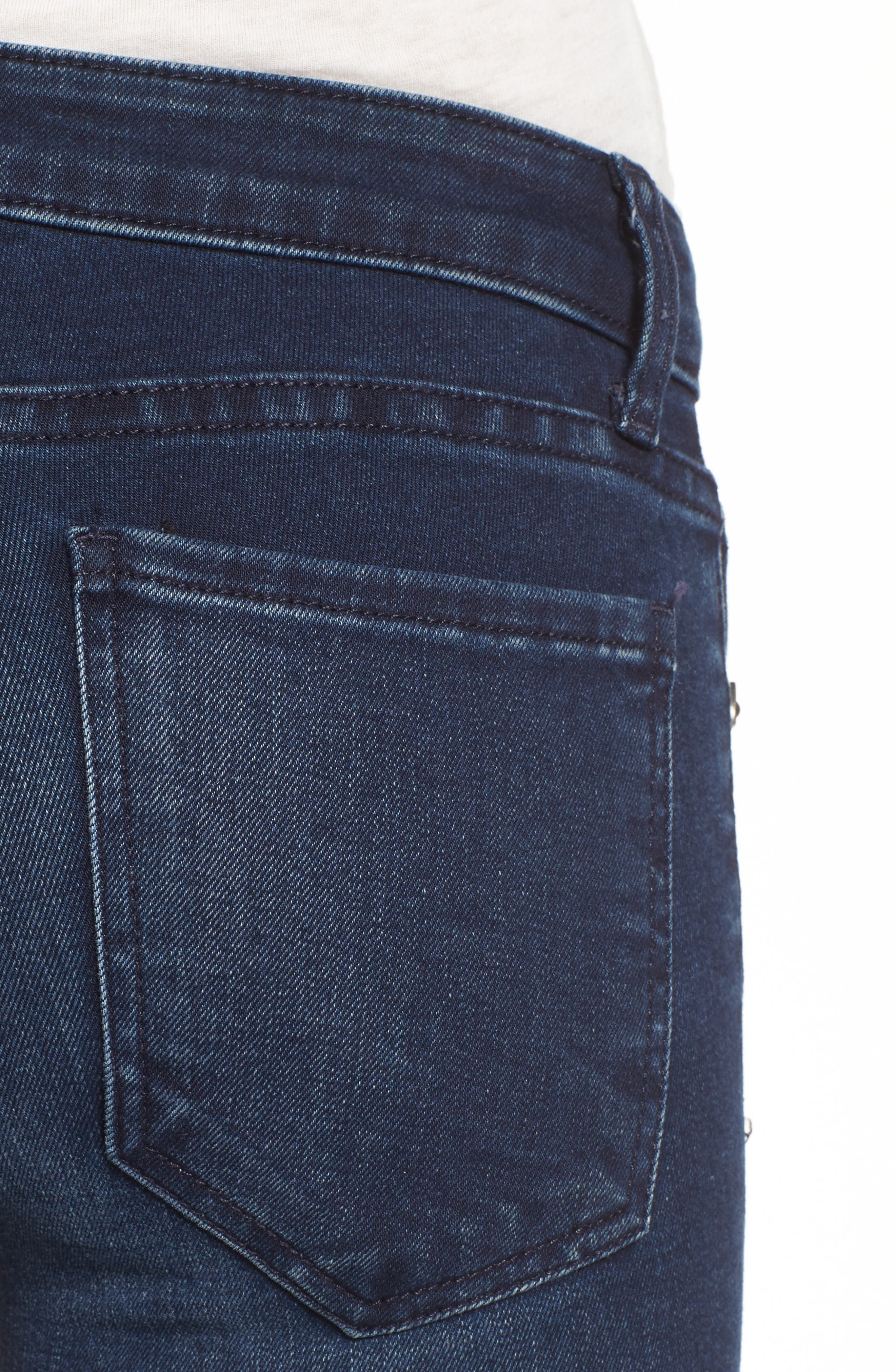 Alternate Image 5  - KUT from the Kloth Connie Skinny Ankle Jeans (Bloomed) (Regular & Petite)