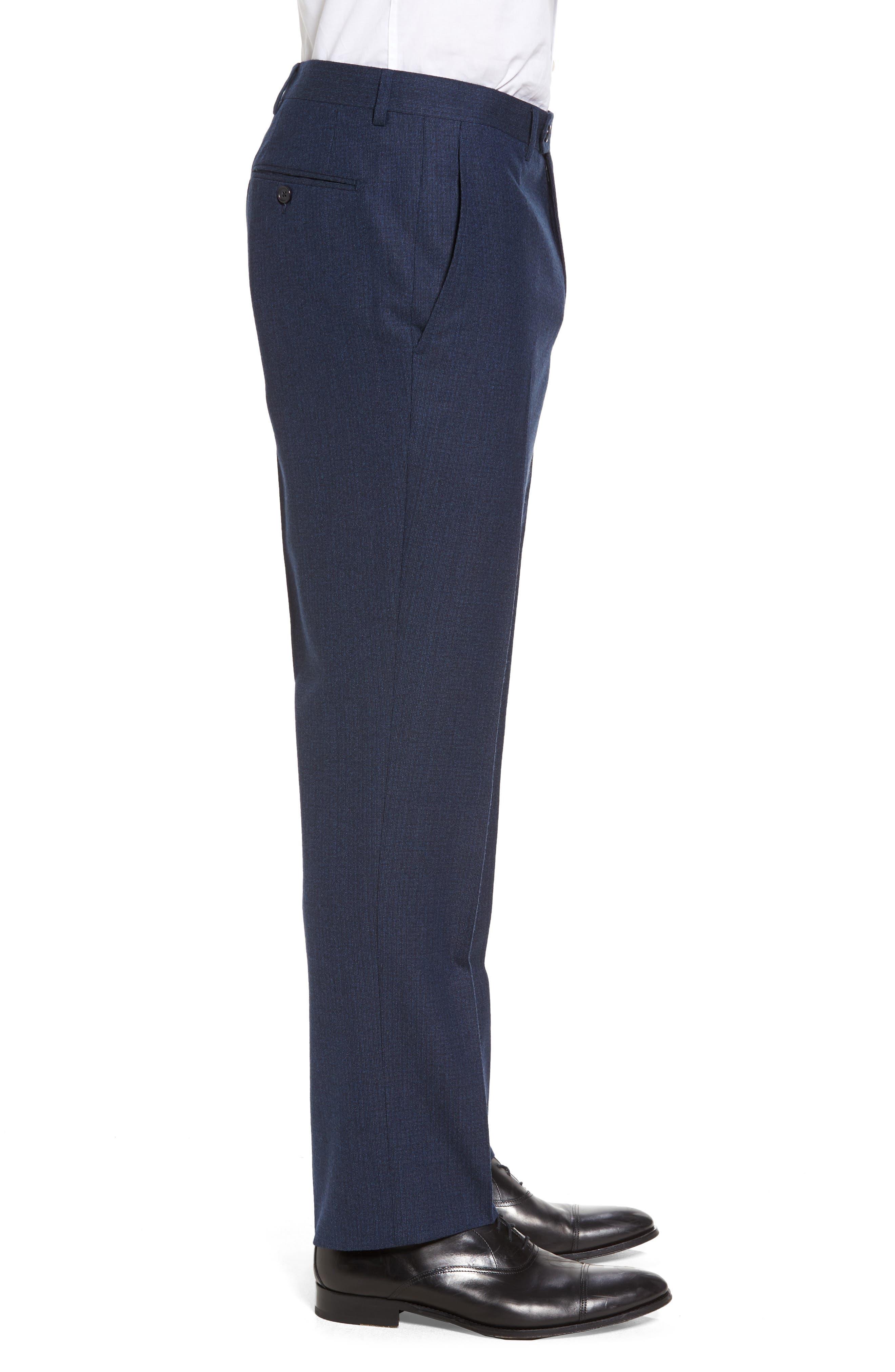 Alternate Image 3  - Santorelli Romero Regular Fit Flat Front Trousers